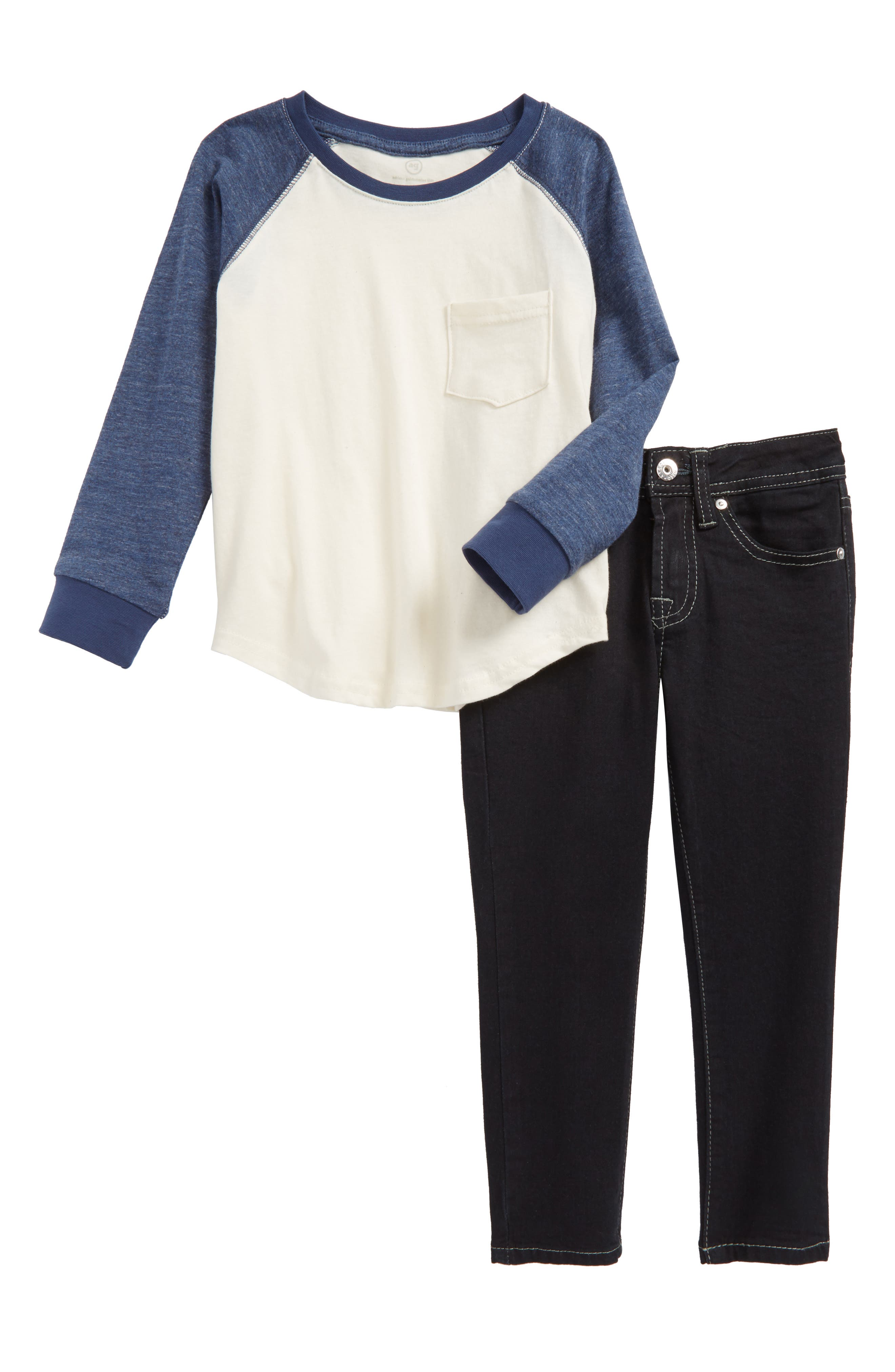 ag adriano goldschmied kids Raglan Shirt & Jeans Set (Toddler Boys)