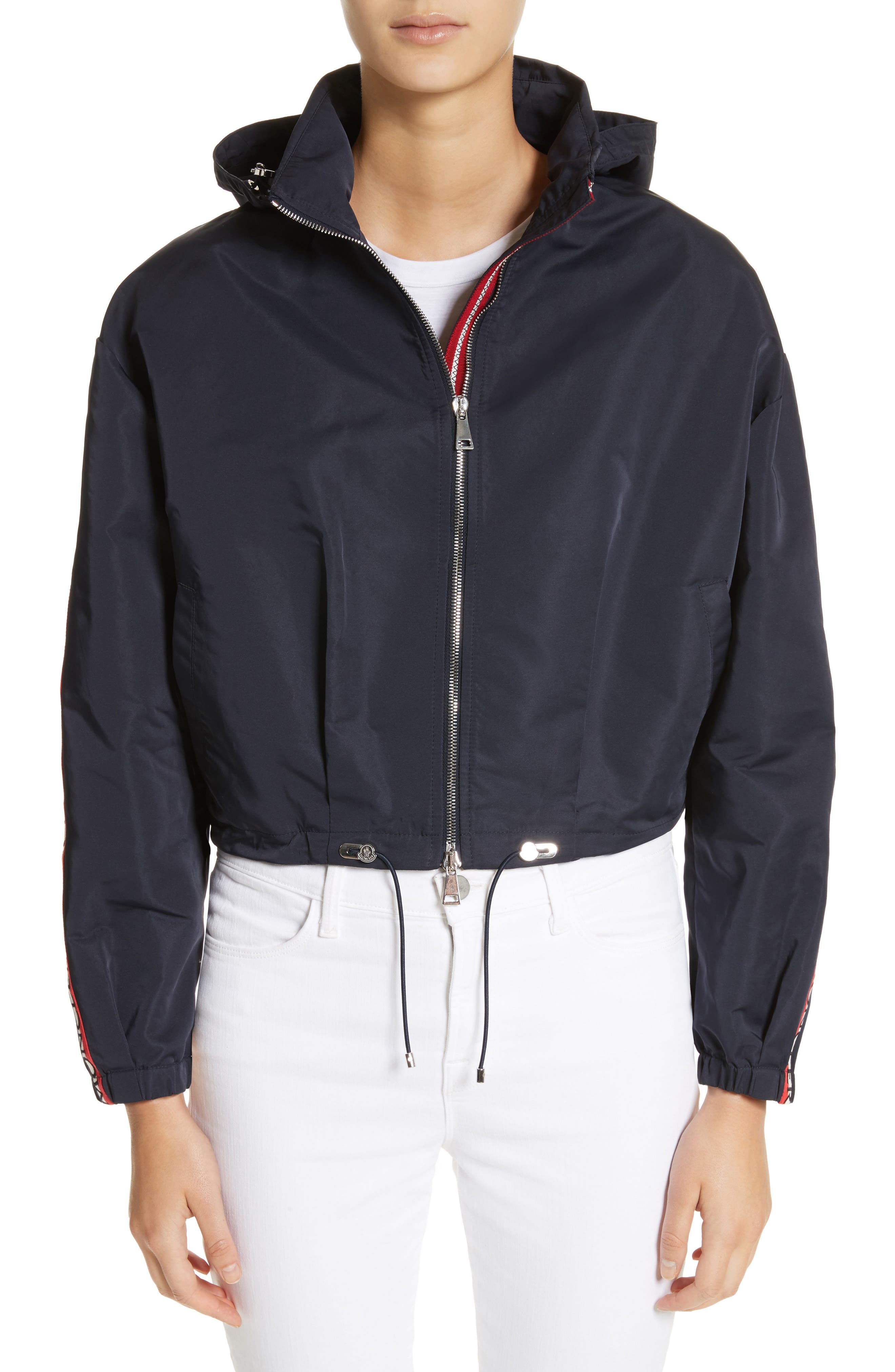 Main Image - Moncler Zirconite Crop Hooded Coat