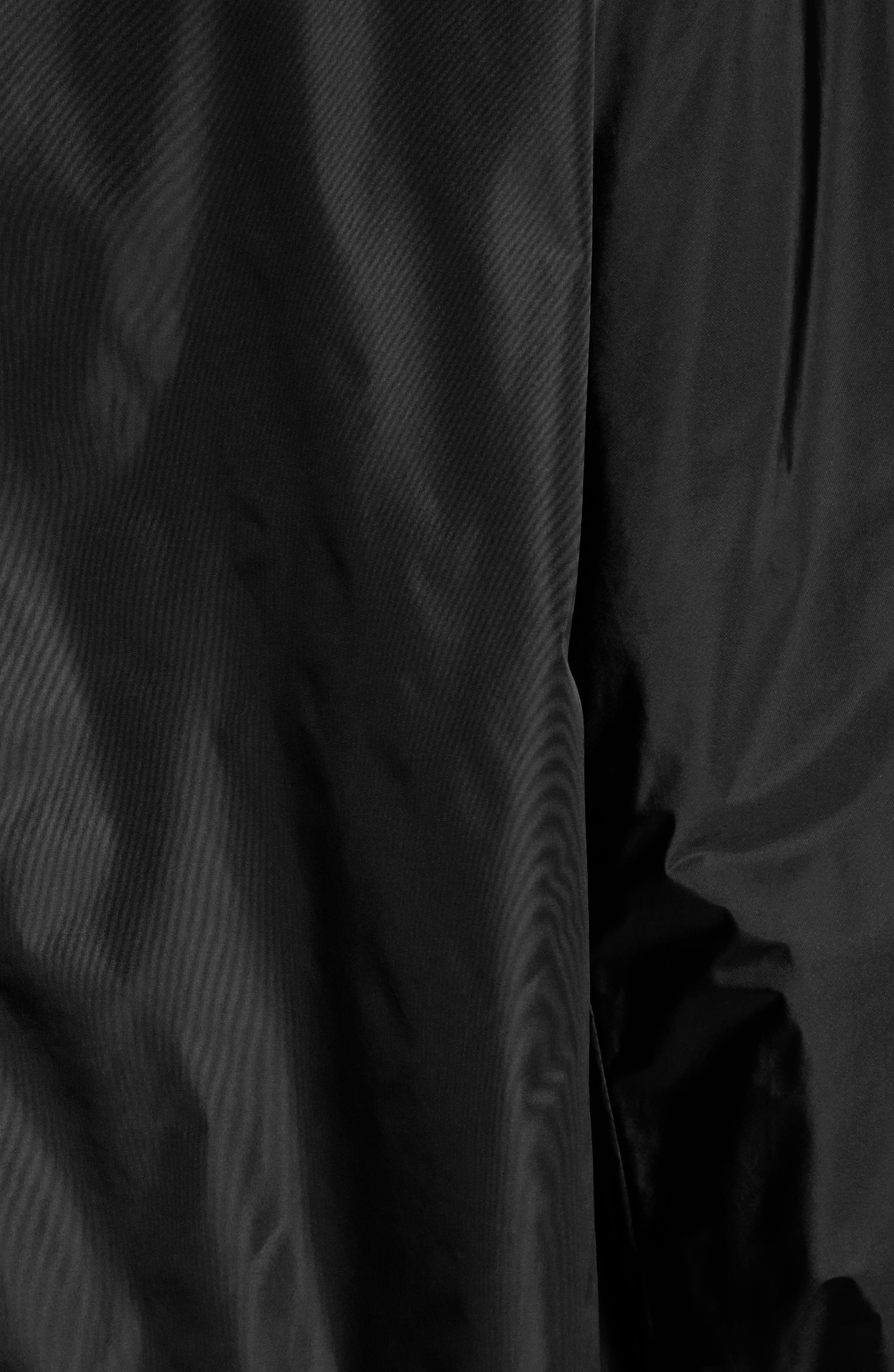 Sanvel Water Resistant Coat,                             Alternate thumbnail 5, color,                             Black
