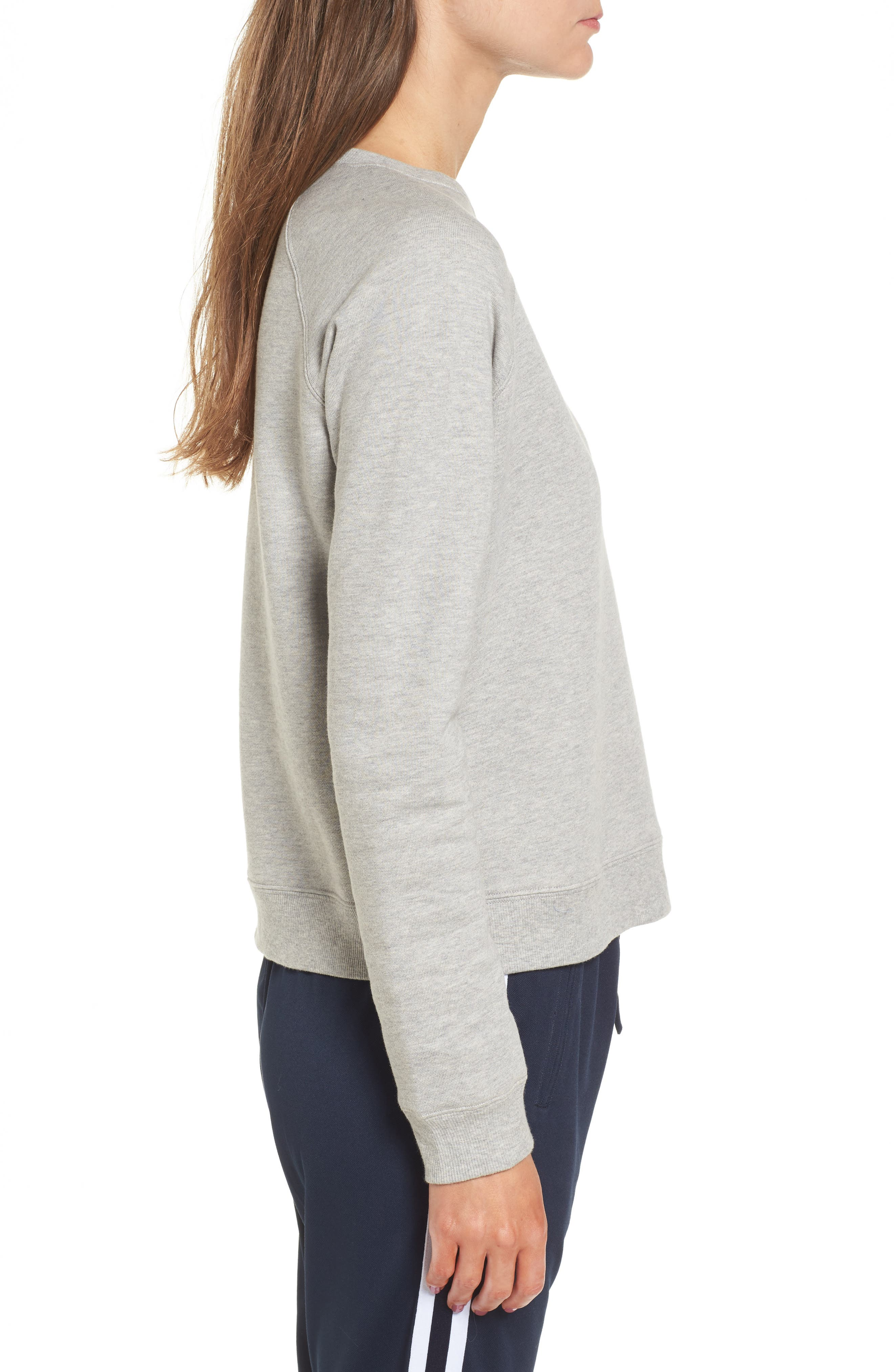 Out of Office Sweatshirt,                             Alternate thumbnail 3, color,                             Heather Grey/ Red