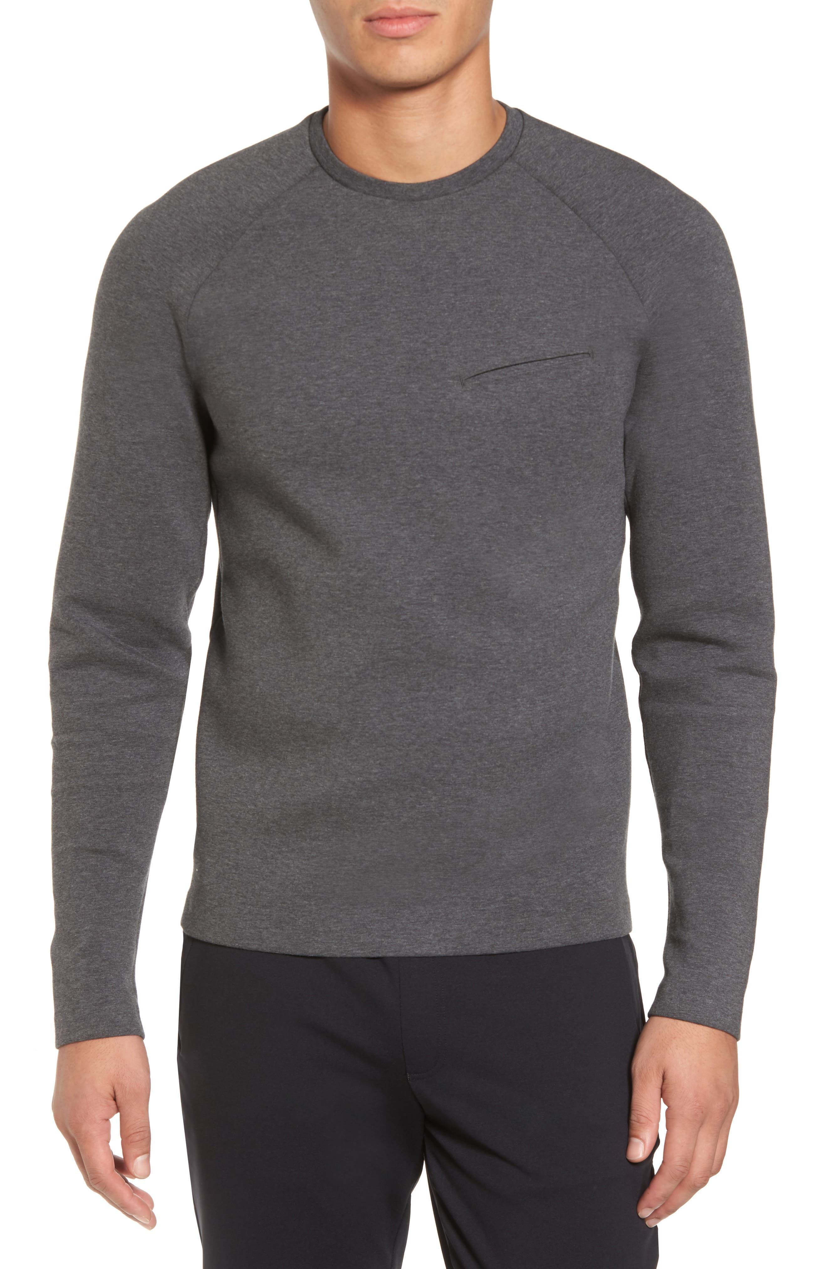 Ethos Cotton Blend Sweater,                         Main,                         color, Heather Asphalt