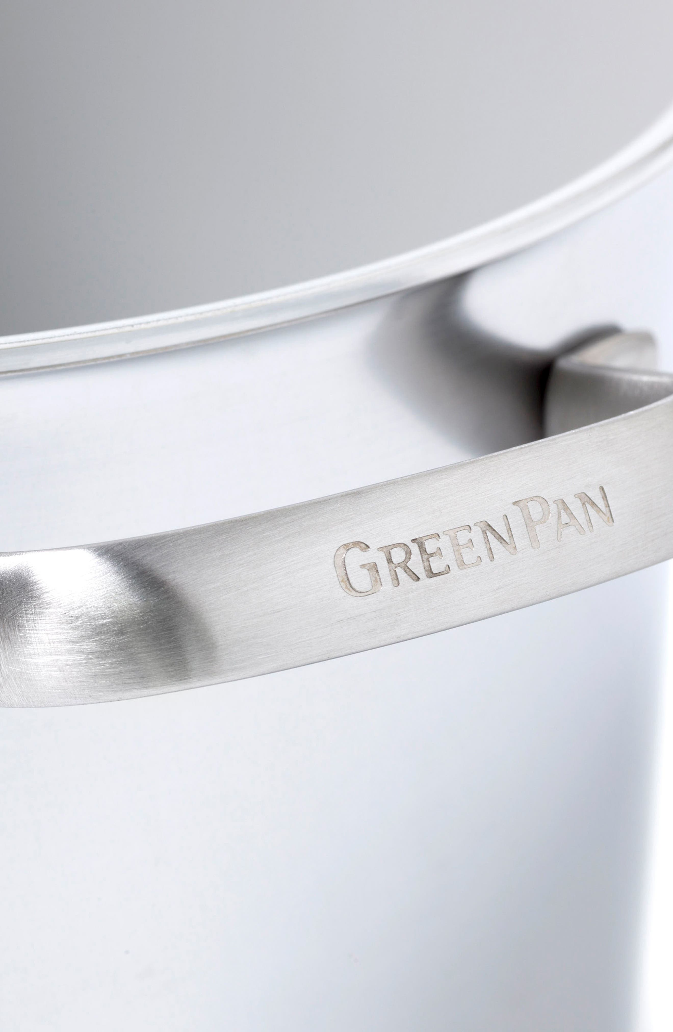 Alternate Image 5  - GreenPan Venice Pro 8-Quart Multilayer Stainless Steel Ceramic Nonstick Stock Pot with Steamer Inset & Glass Lid