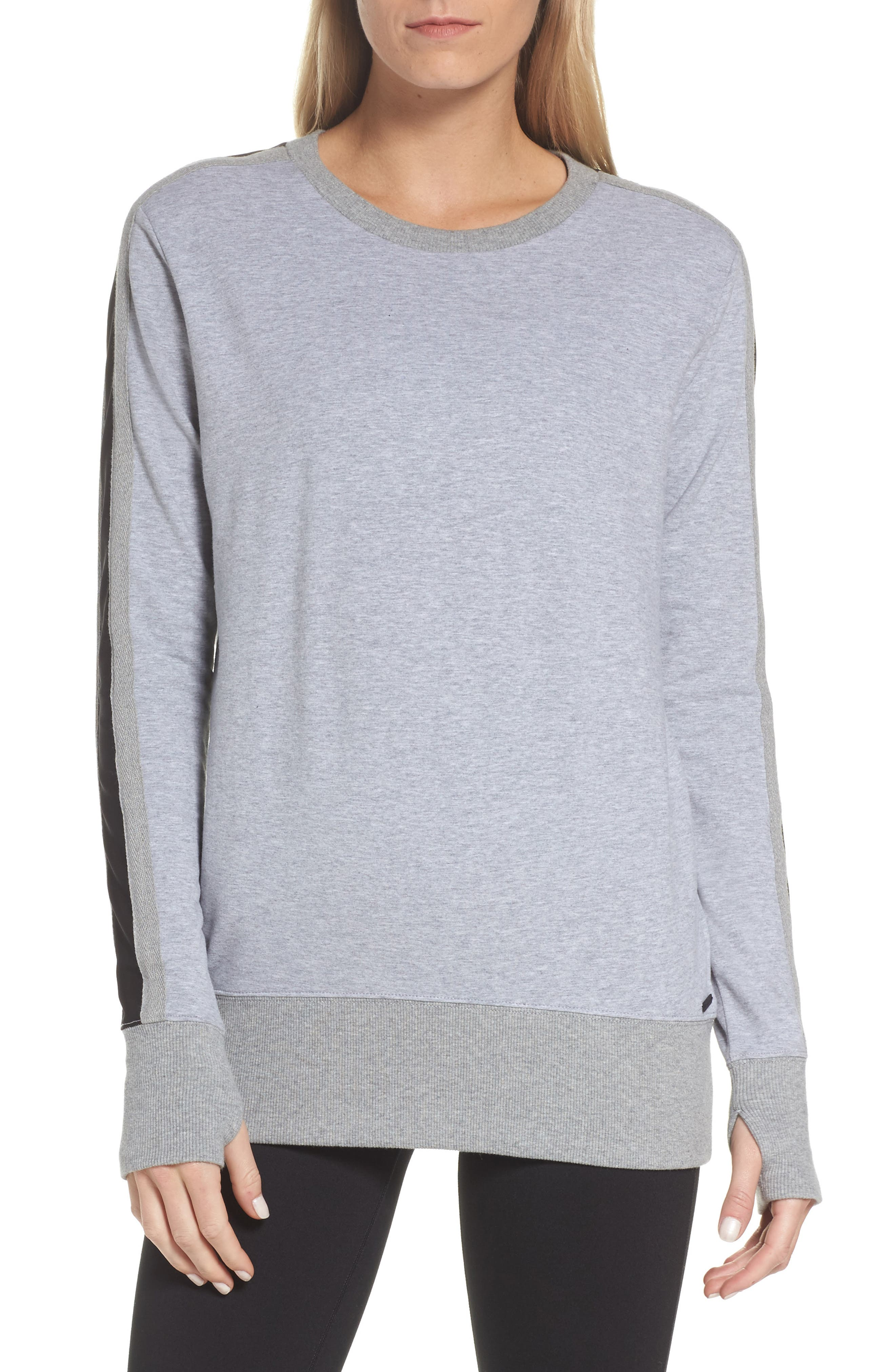 Social Sweatshirt,                         Main,                         color, Heather Grey