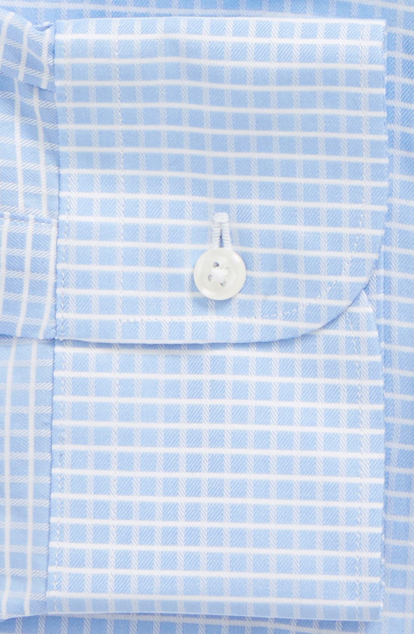 Classic Fit Check Dress Shirt,                             Alternate thumbnail 5, color,                             Blue Hydrangea