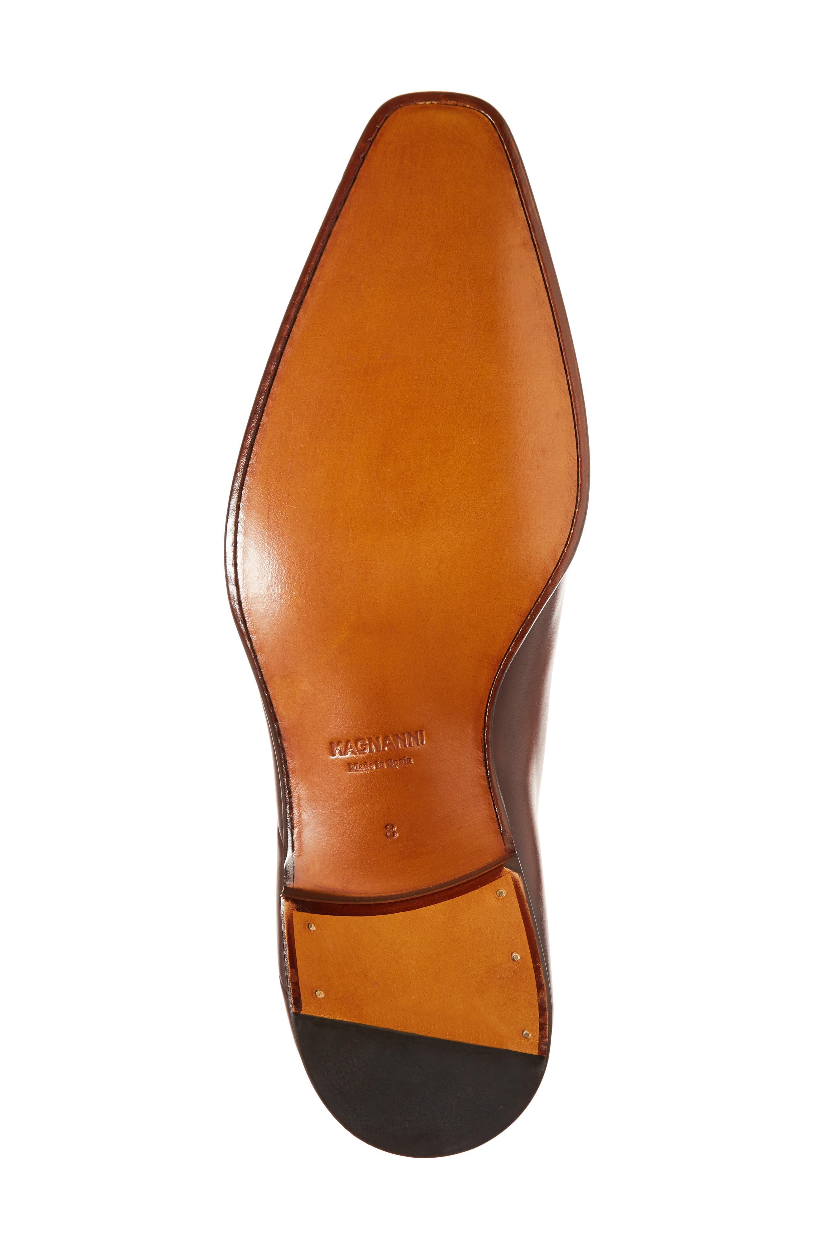 Marquez Stitched Oxford,                             Alternate thumbnail 6, color,                             Cognac Leather