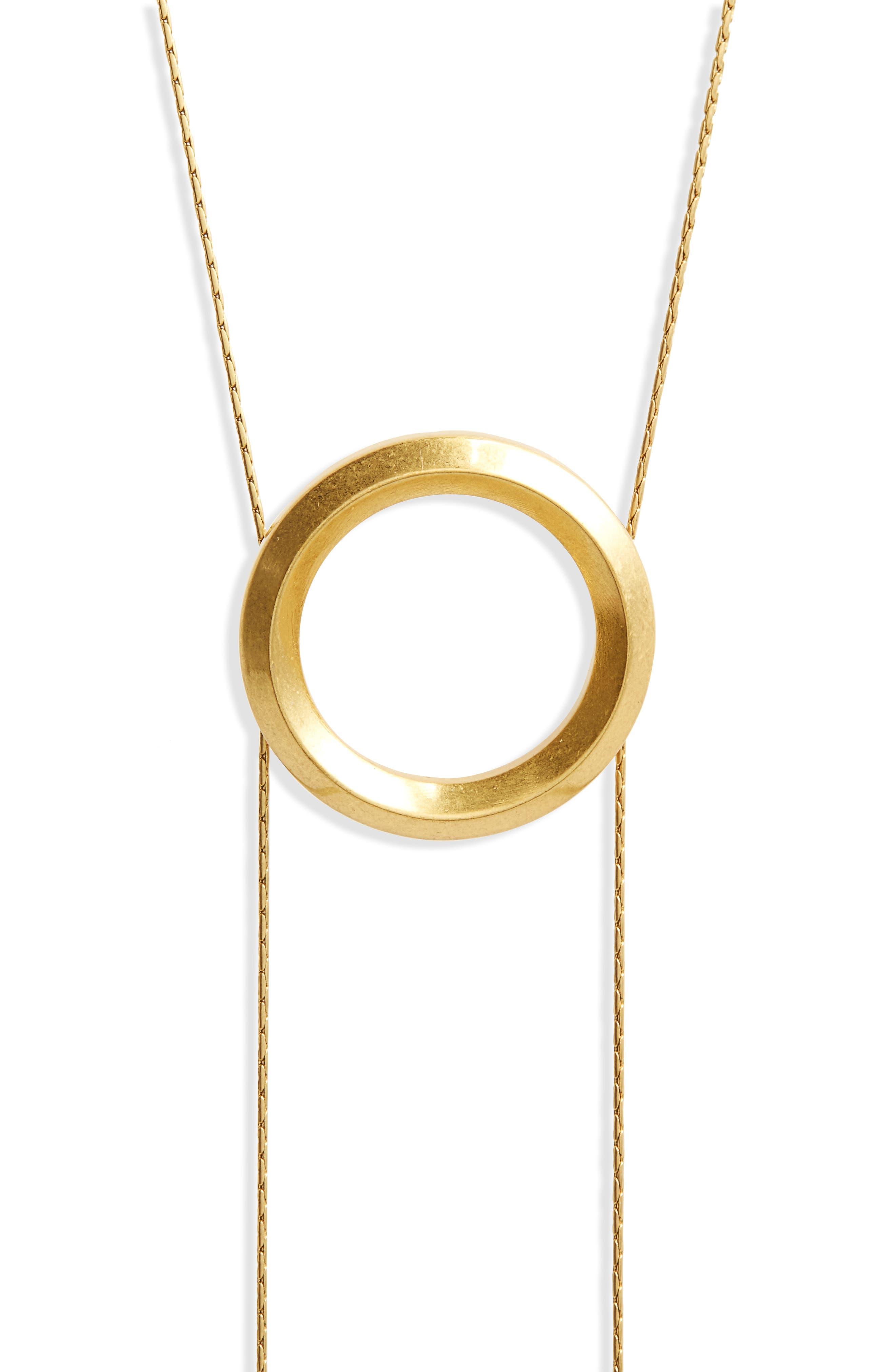 Alternate Image 2  - Madewell Sliding Ring Bolo Necklace