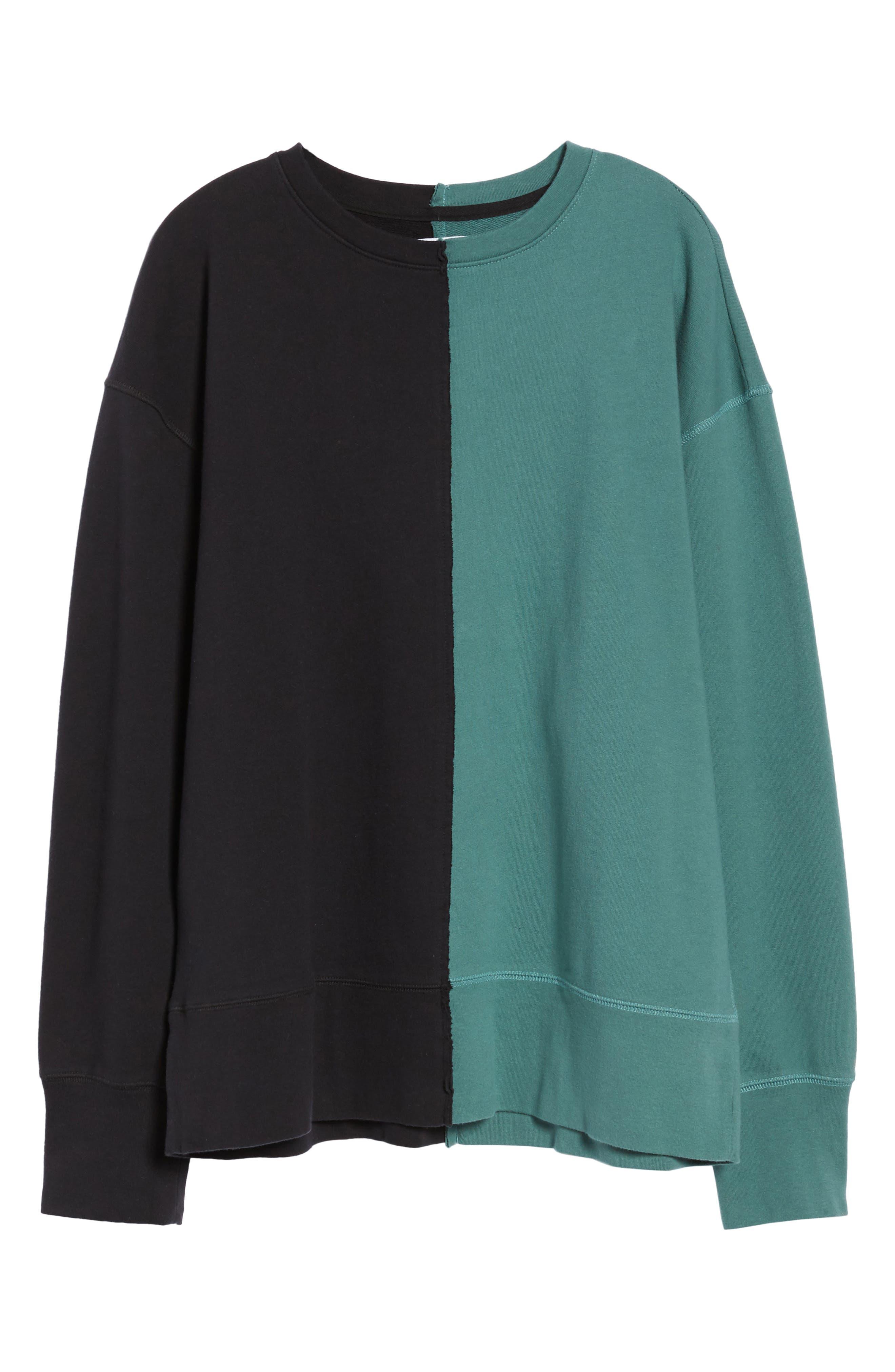 Colorblock T-Shirt,                             Alternate thumbnail 6, color,                             Black Rock / Green Pine