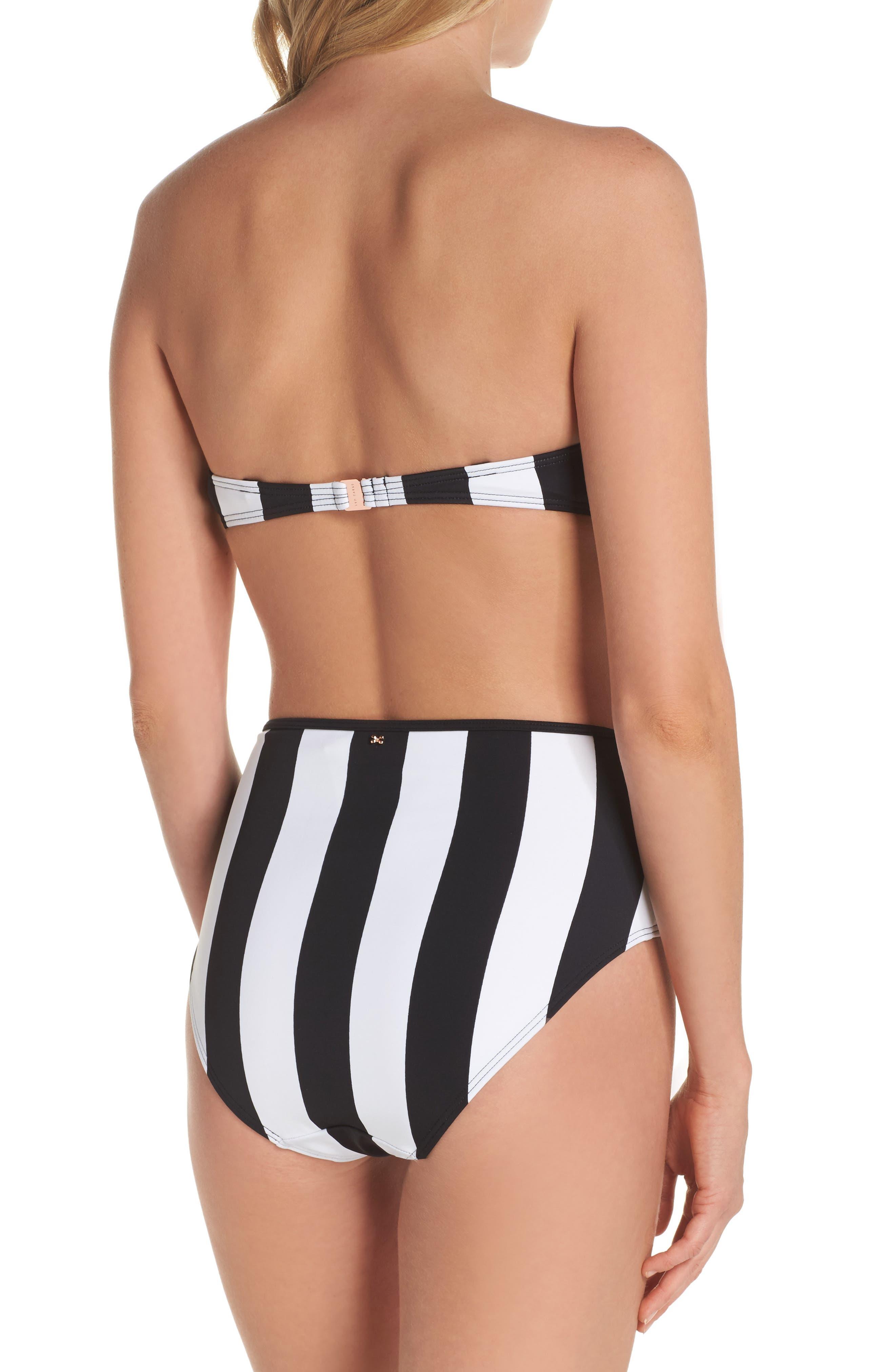 Alternate Image 7  - Ted Baker London Monochrome Stripe Underwire Bikini Top