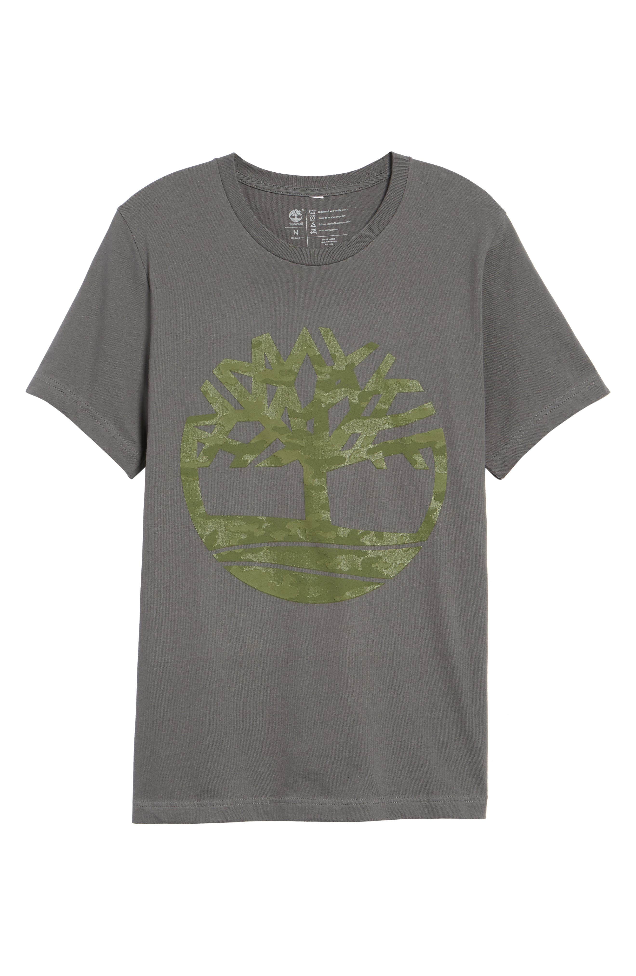 Textured Camo Graphic T-Shirt,                             Alternate thumbnail 6, color,                             Grey
