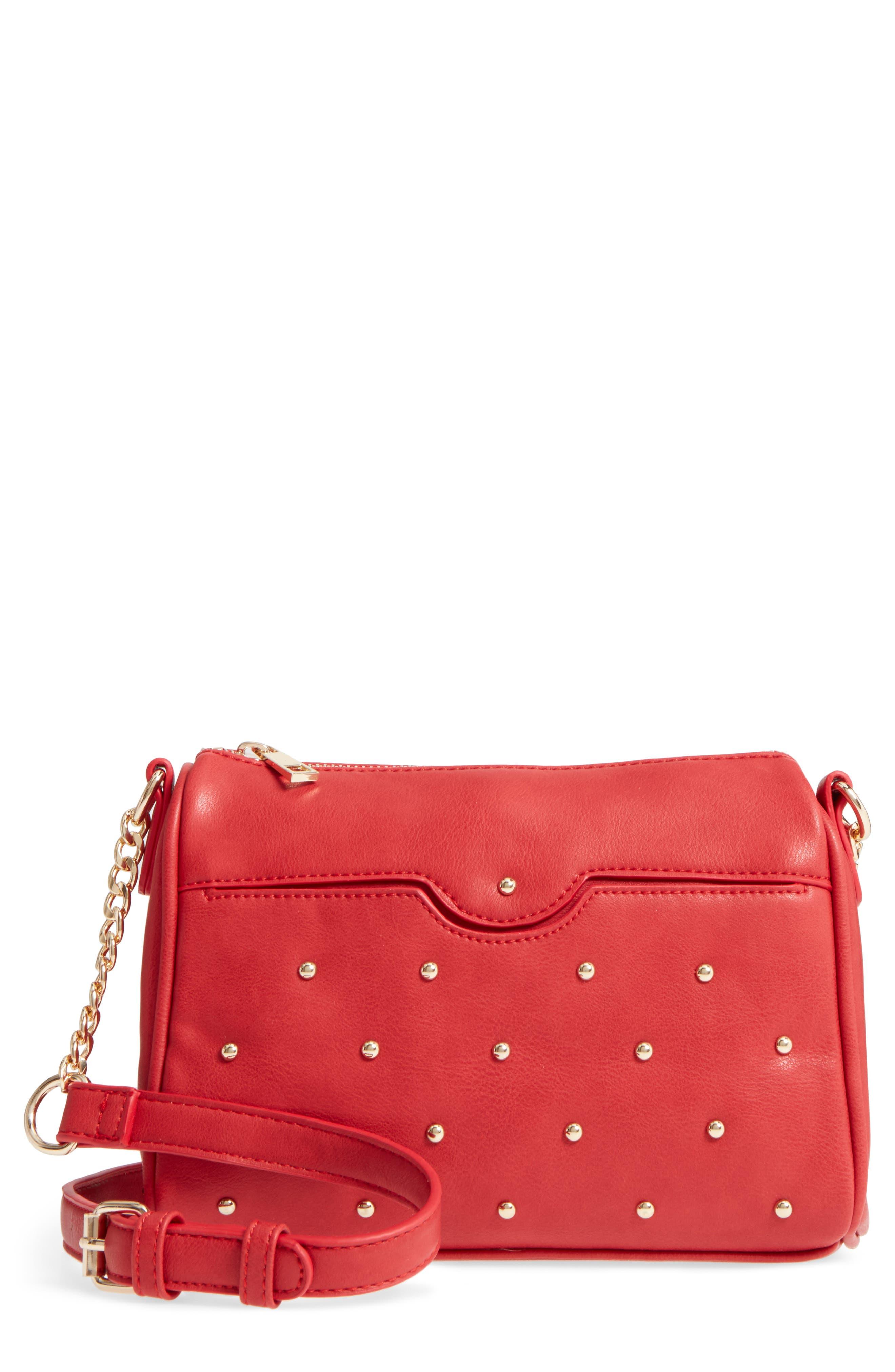 BP. Studded Faux Leather Crossbody Bag