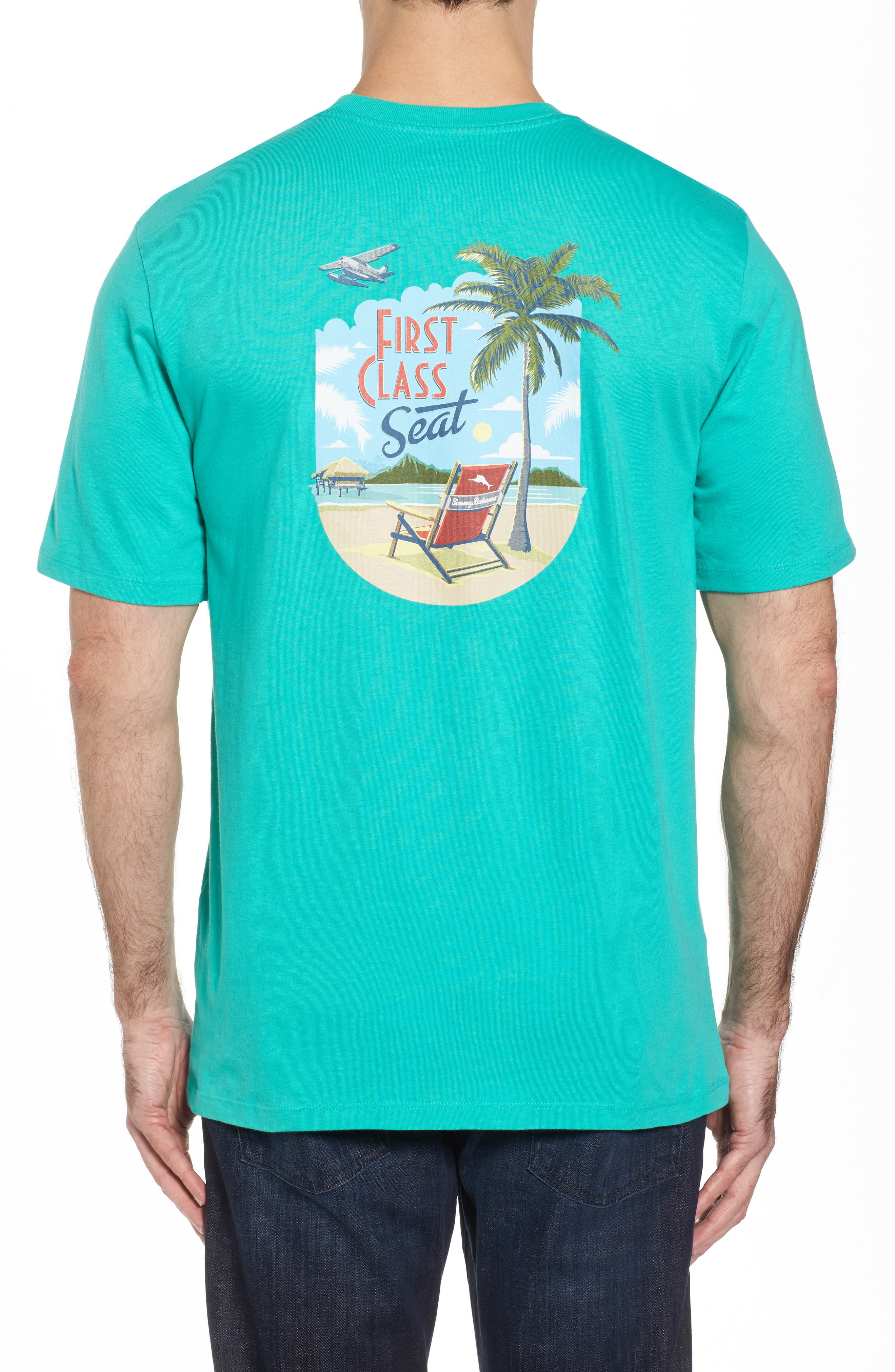 First Class Seat T-Shirt,                             Alternate thumbnail 2, color,                             Cave Green