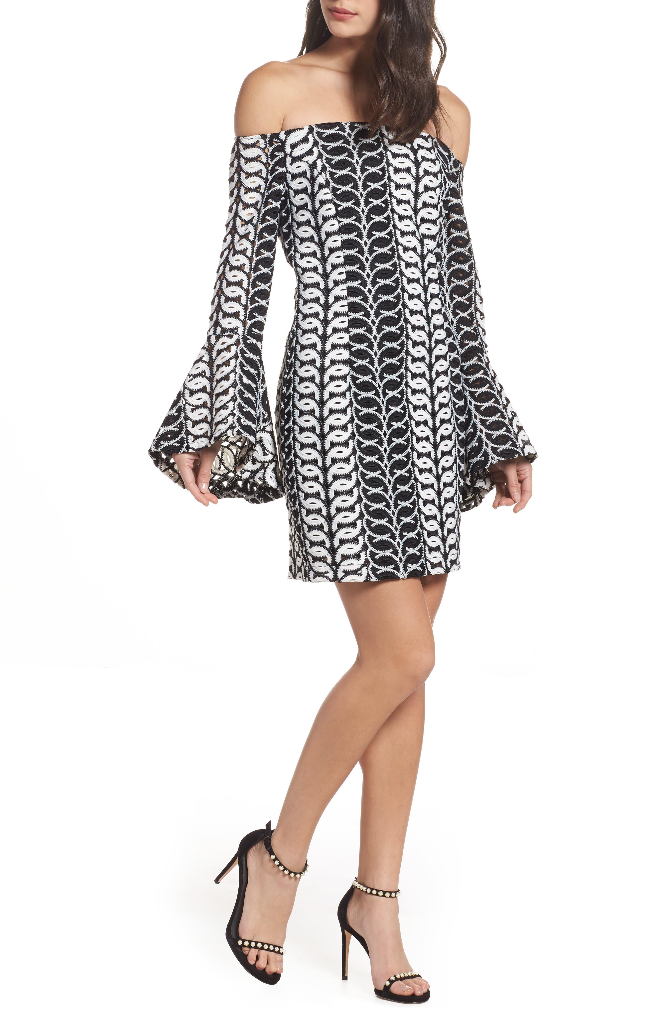 Chantelle Lace Off the Shoulder Dress,                         Main,                         color, Multi