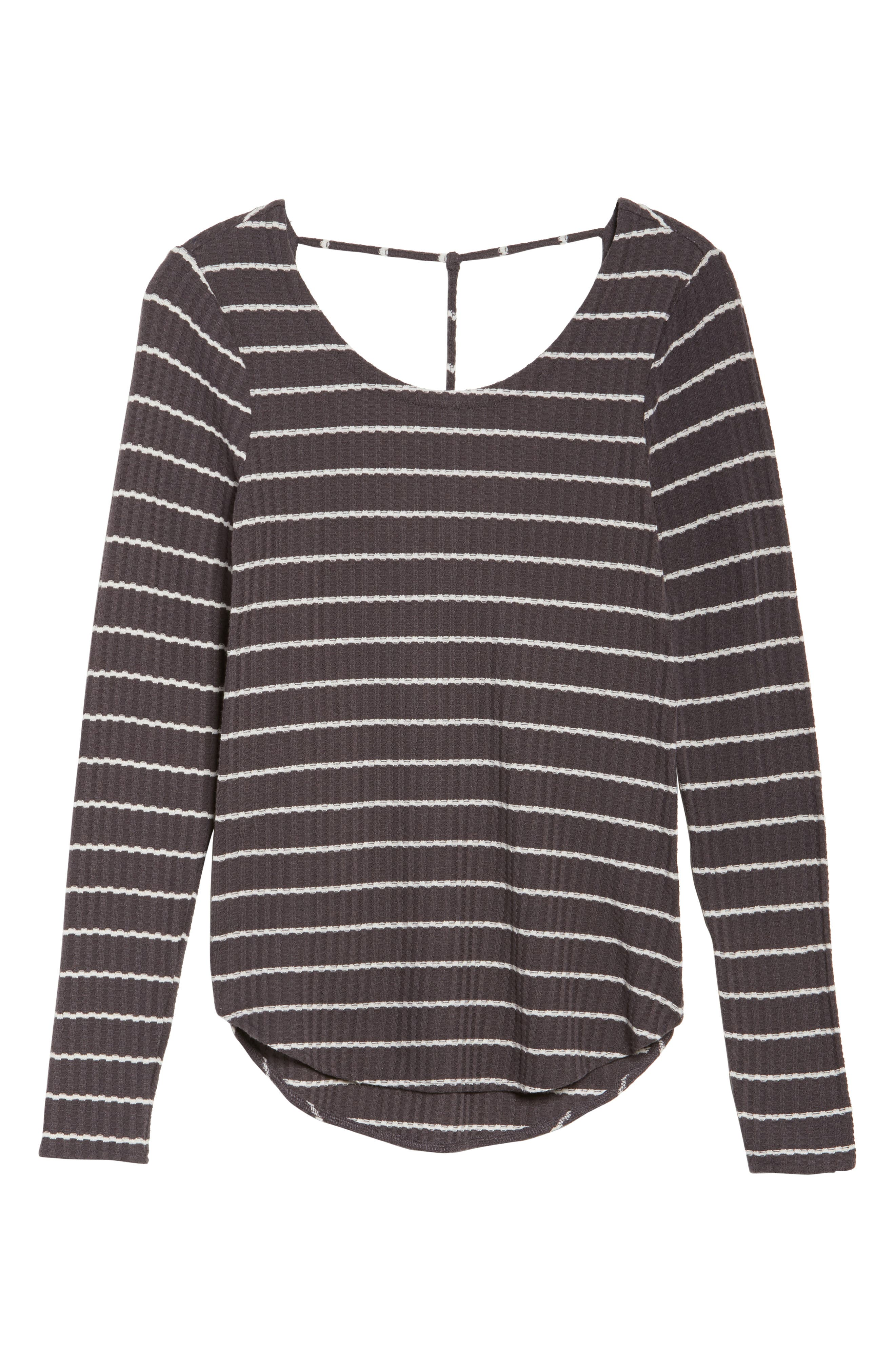 Thermal Knit Tee,                             Alternate thumbnail 4, color,                             Stripe