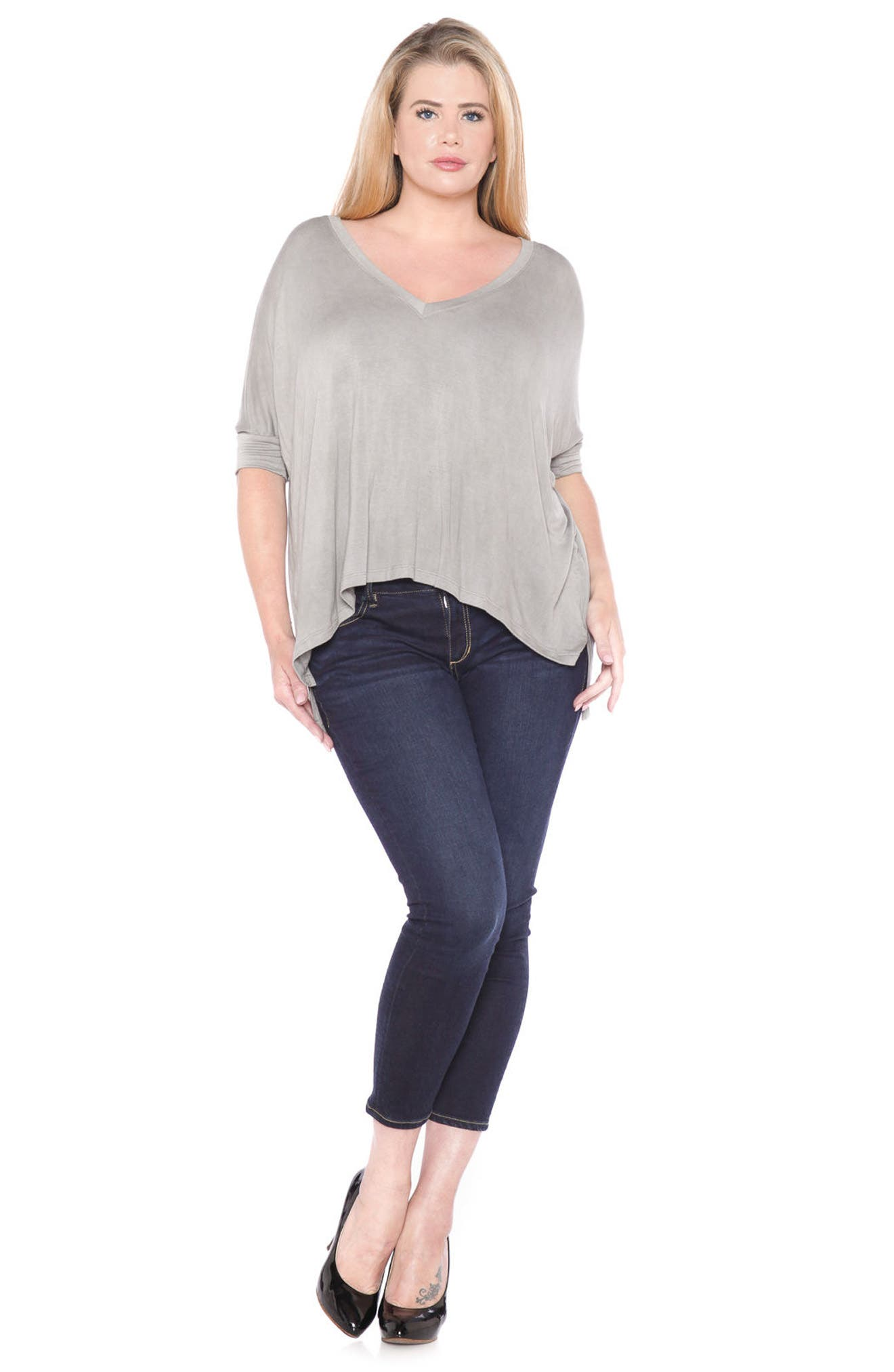Alternate Image 4  - SLINK Jeans Dolman Sleeve Top (Plus Size)