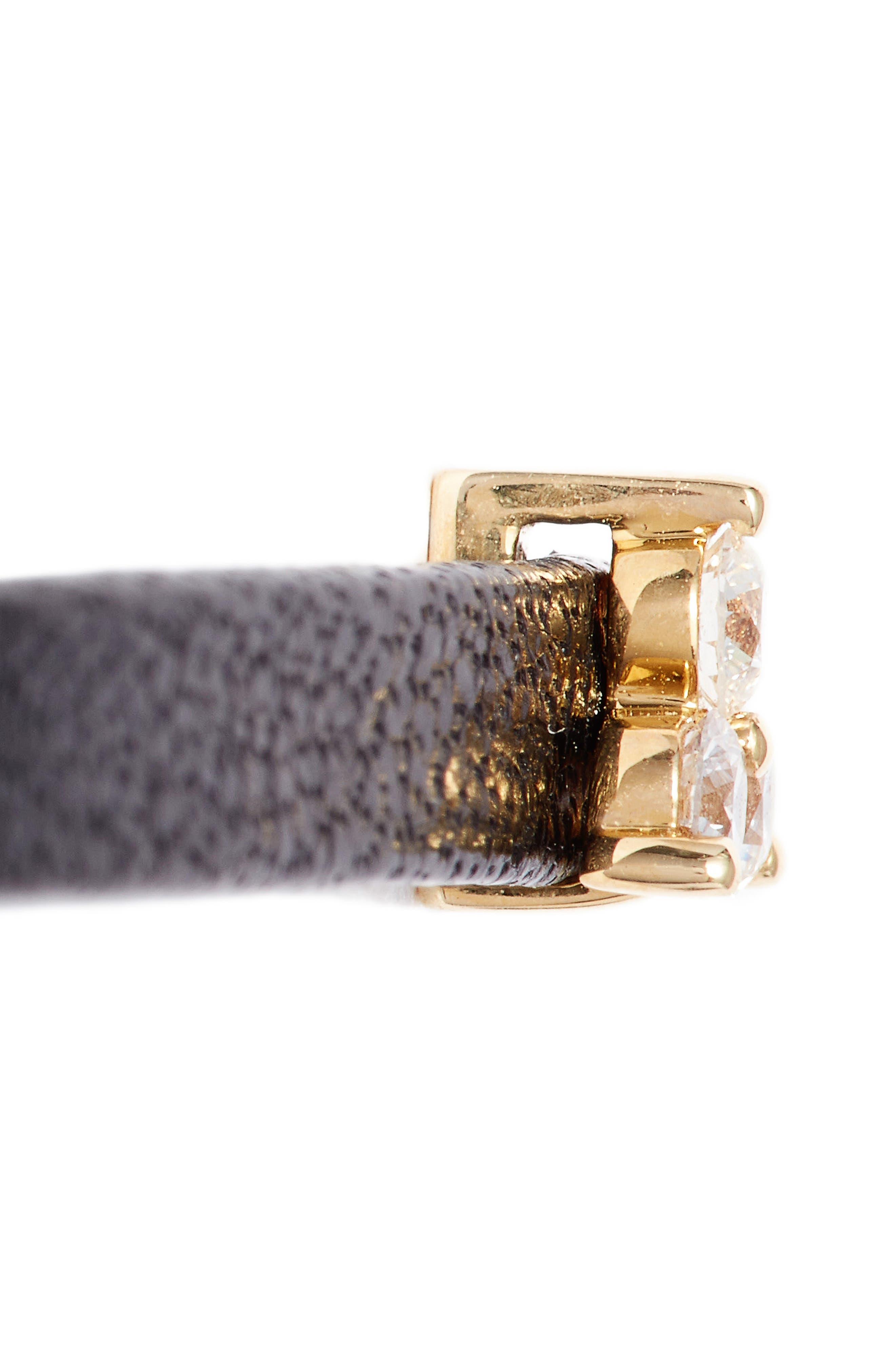 Alternate Image 5  - EF COLLECTION Mini Diamond Trio Leather Choker