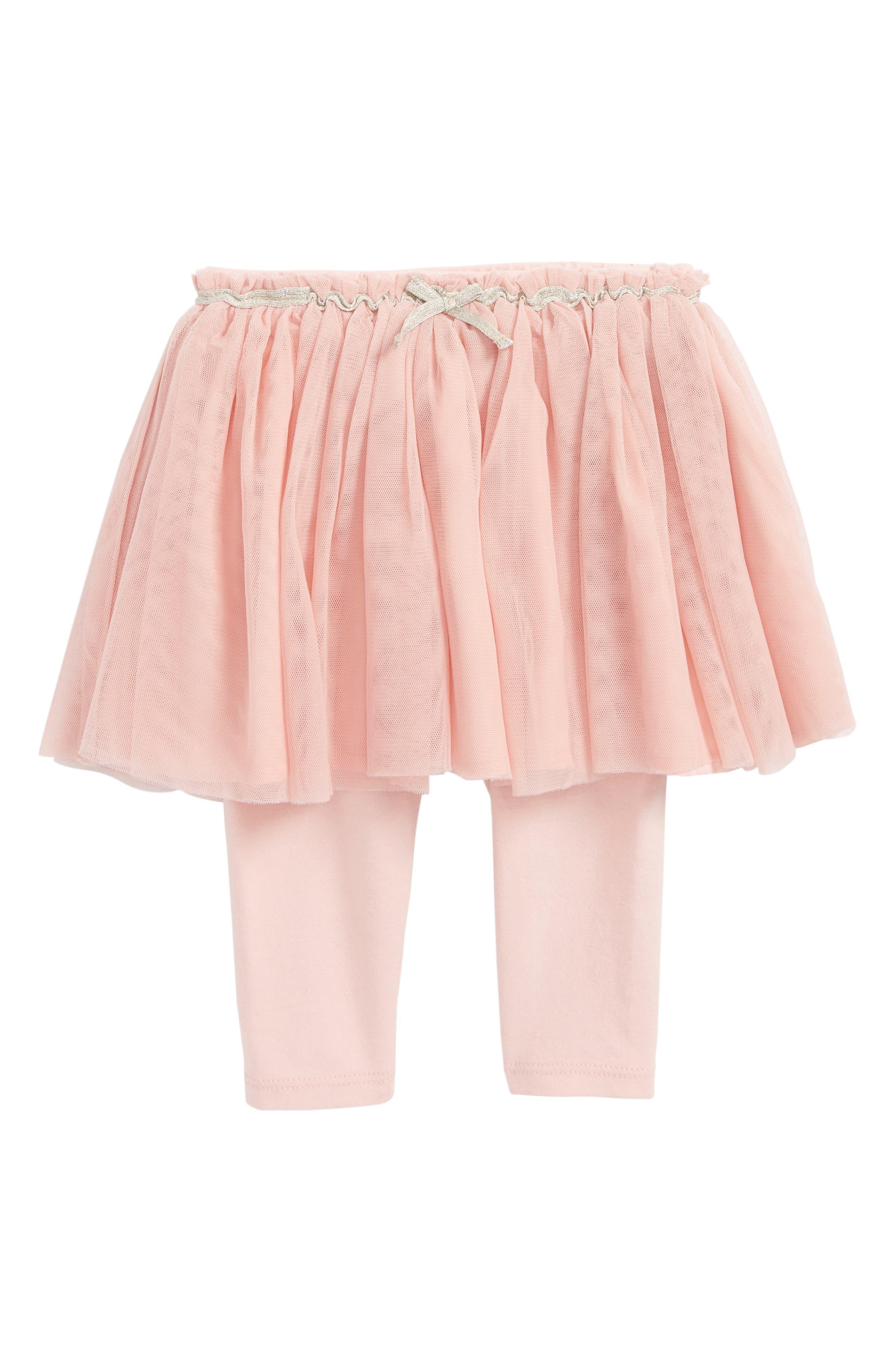 Tutu Leggings,                         Main,                         color, Pink Silver