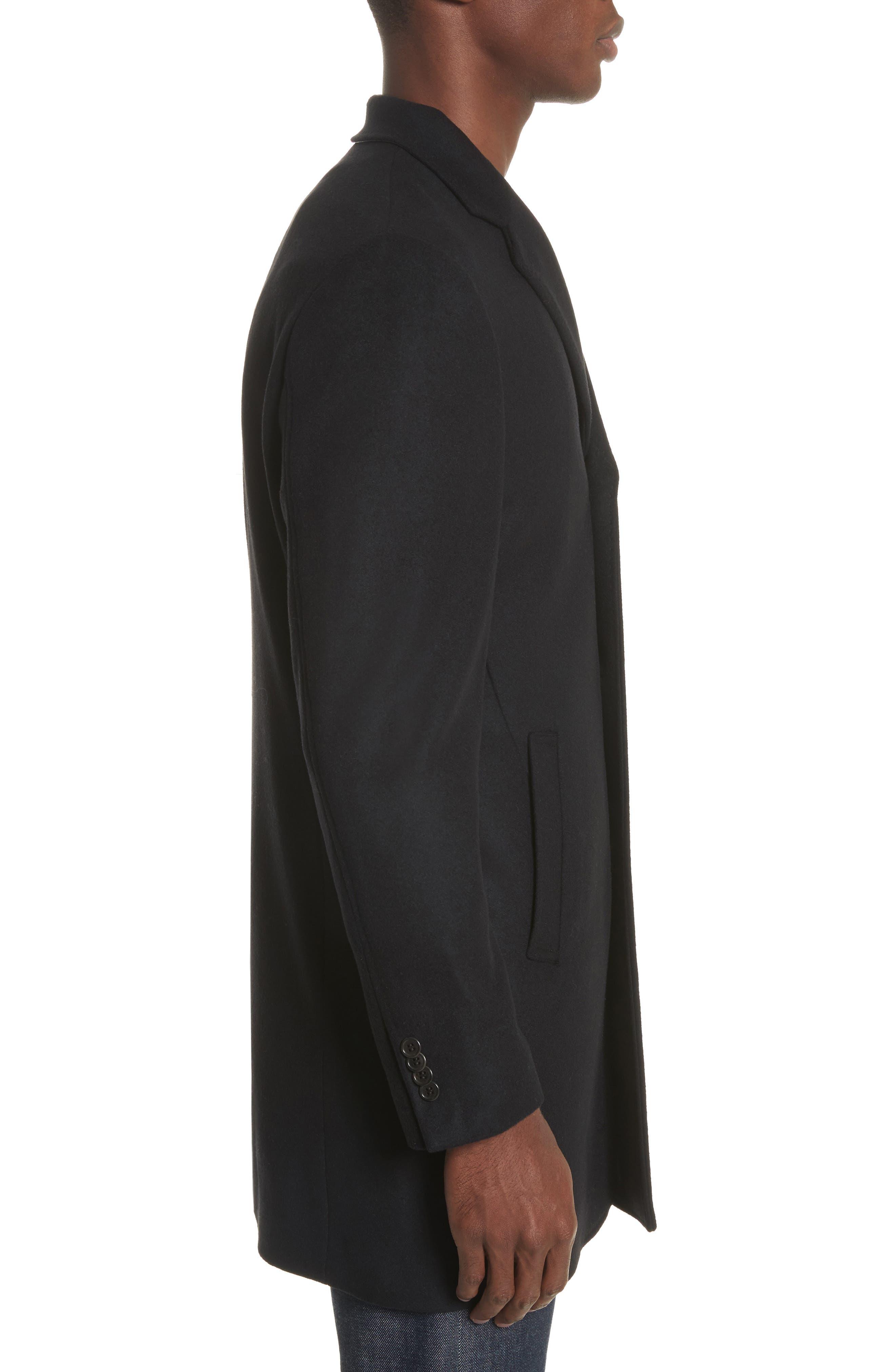 Walsh Wool Blend Topcoat,                             Alternate thumbnail 3, color,                             Black