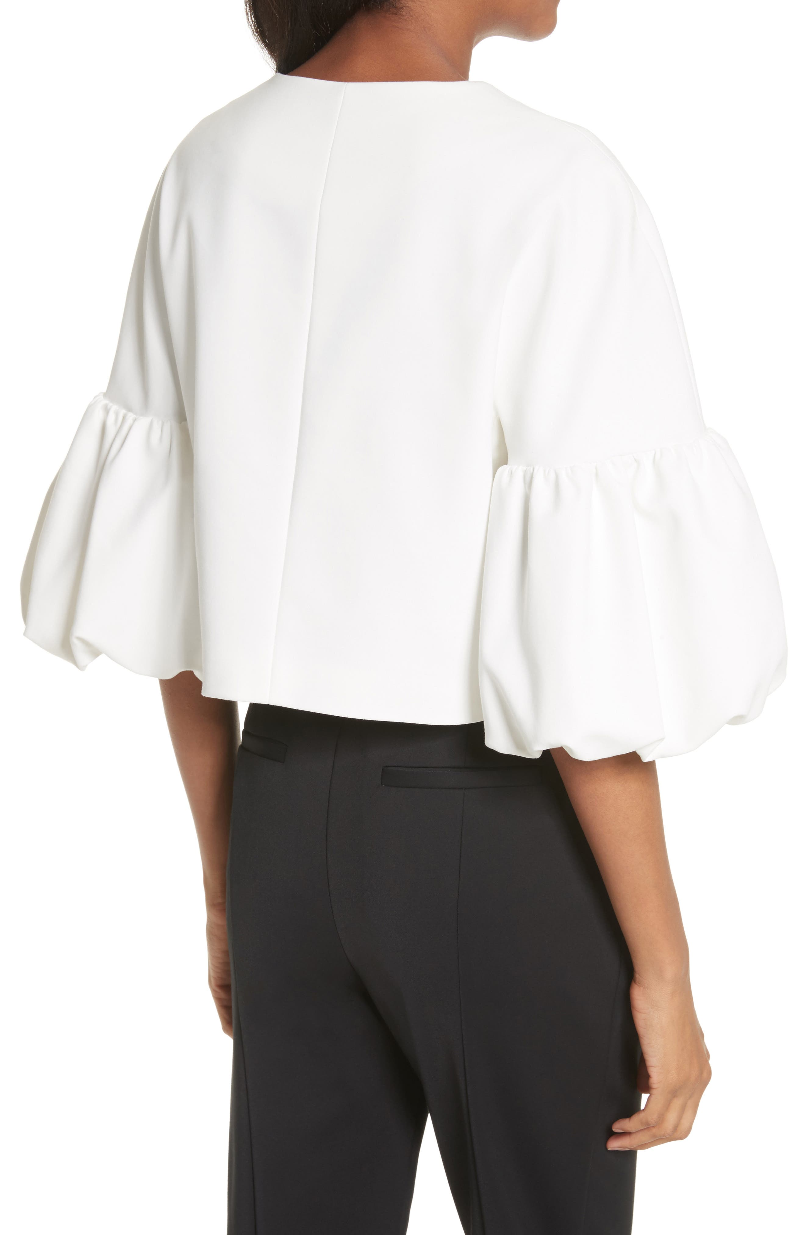 Balloon Sleeve Top,                             Alternate thumbnail 2, color,                             Ivory