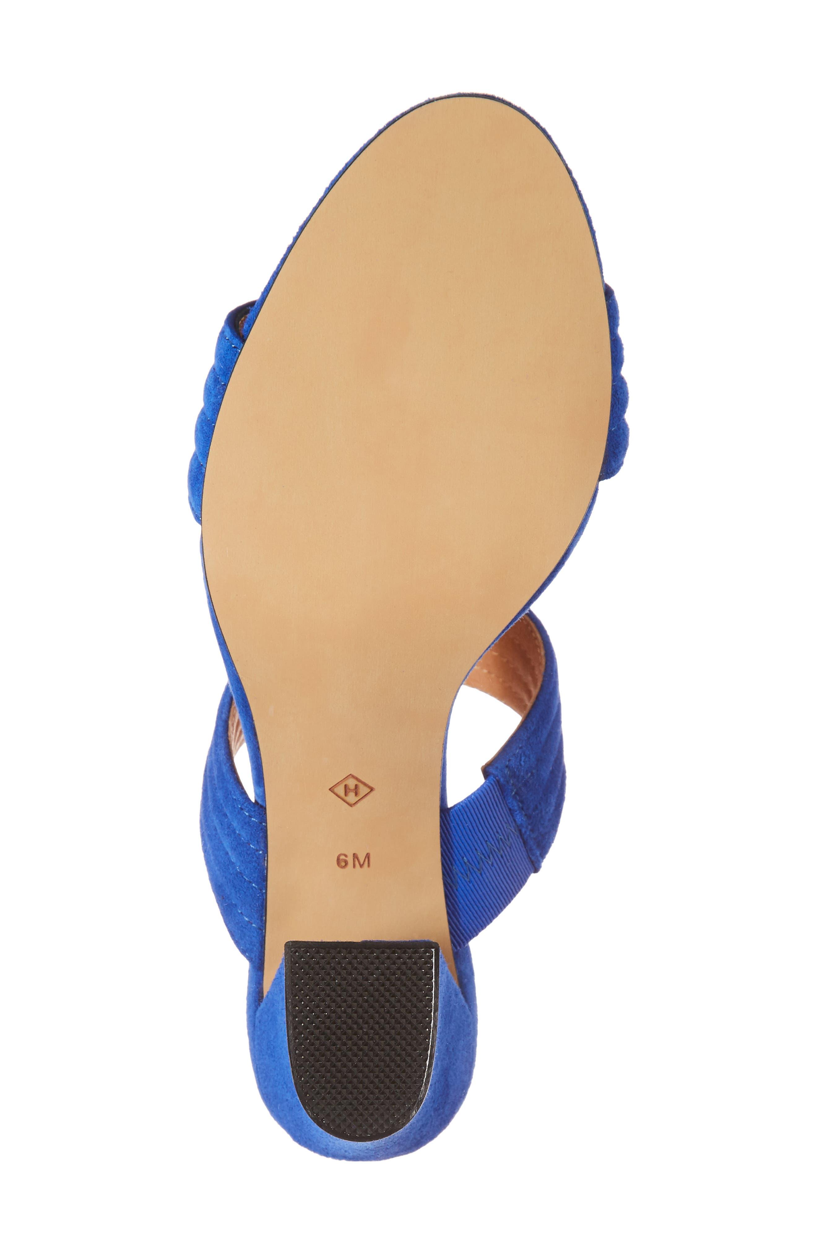 Della Slide Sandal,                             Alternate thumbnail 6, color,                             Cobalt Suede