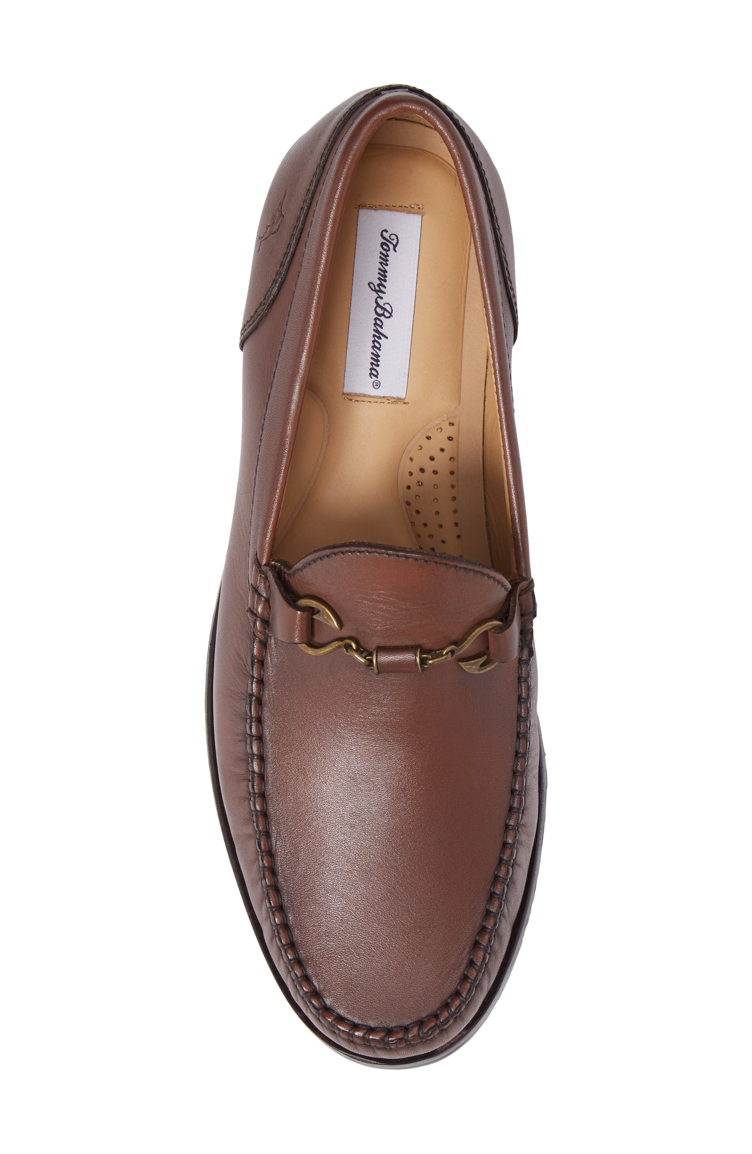Maya Bay Bit Loafer,                             Alternate thumbnail 5, color,                             Brown Leather