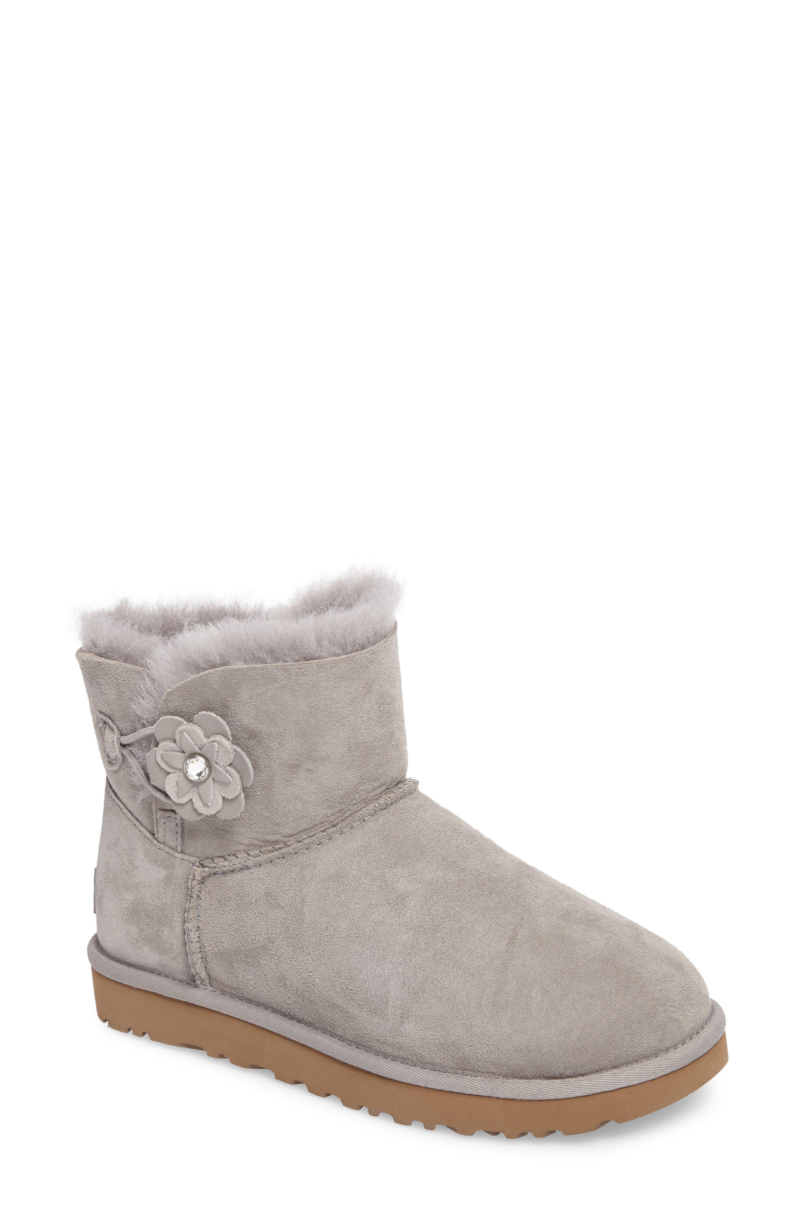 UGG® Bailey Petal Genuine Shearling Lined Mini Boot (Women)