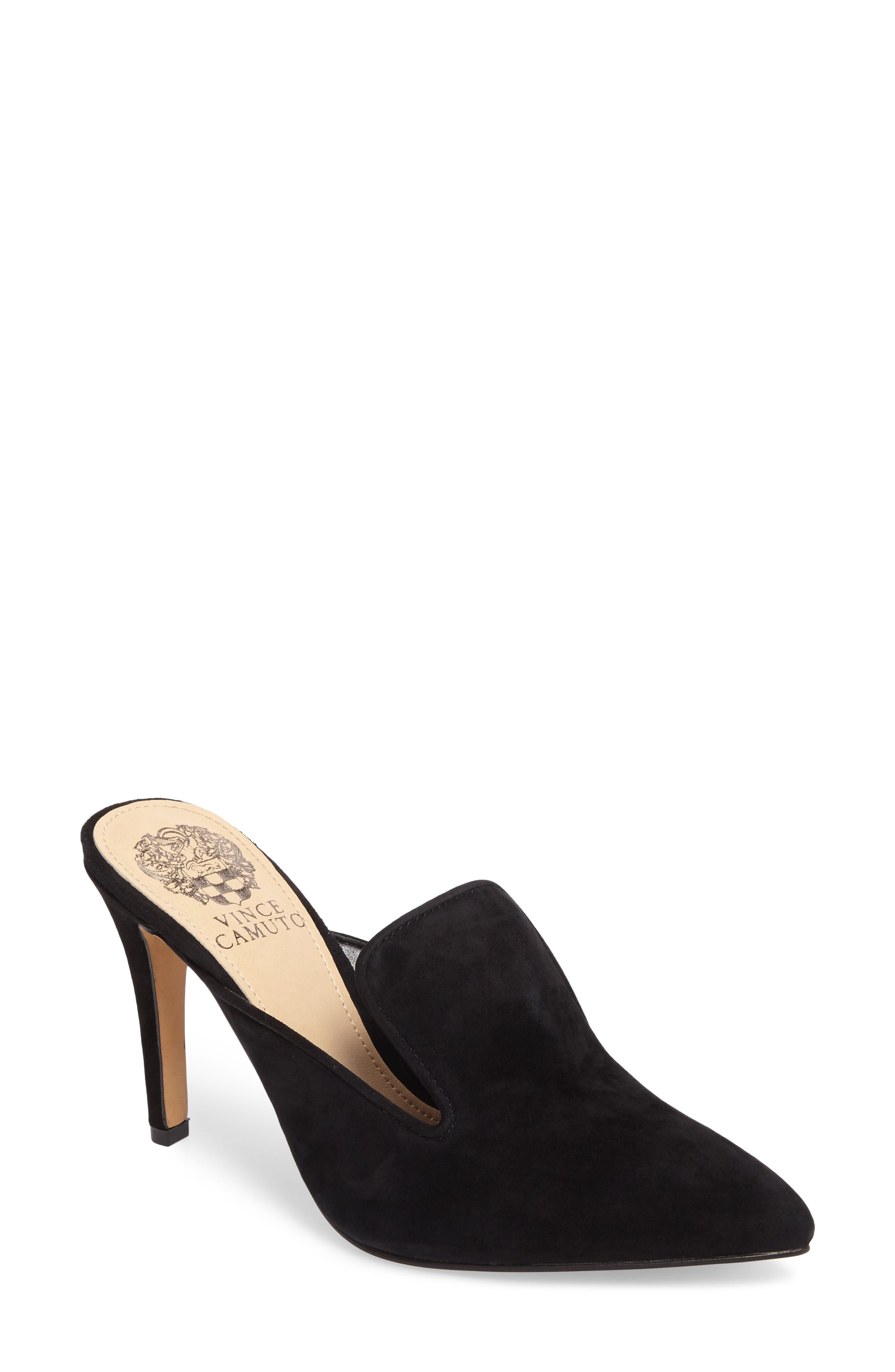 Emberton Mule,                             Main thumbnail 1, color,                             Black Suede