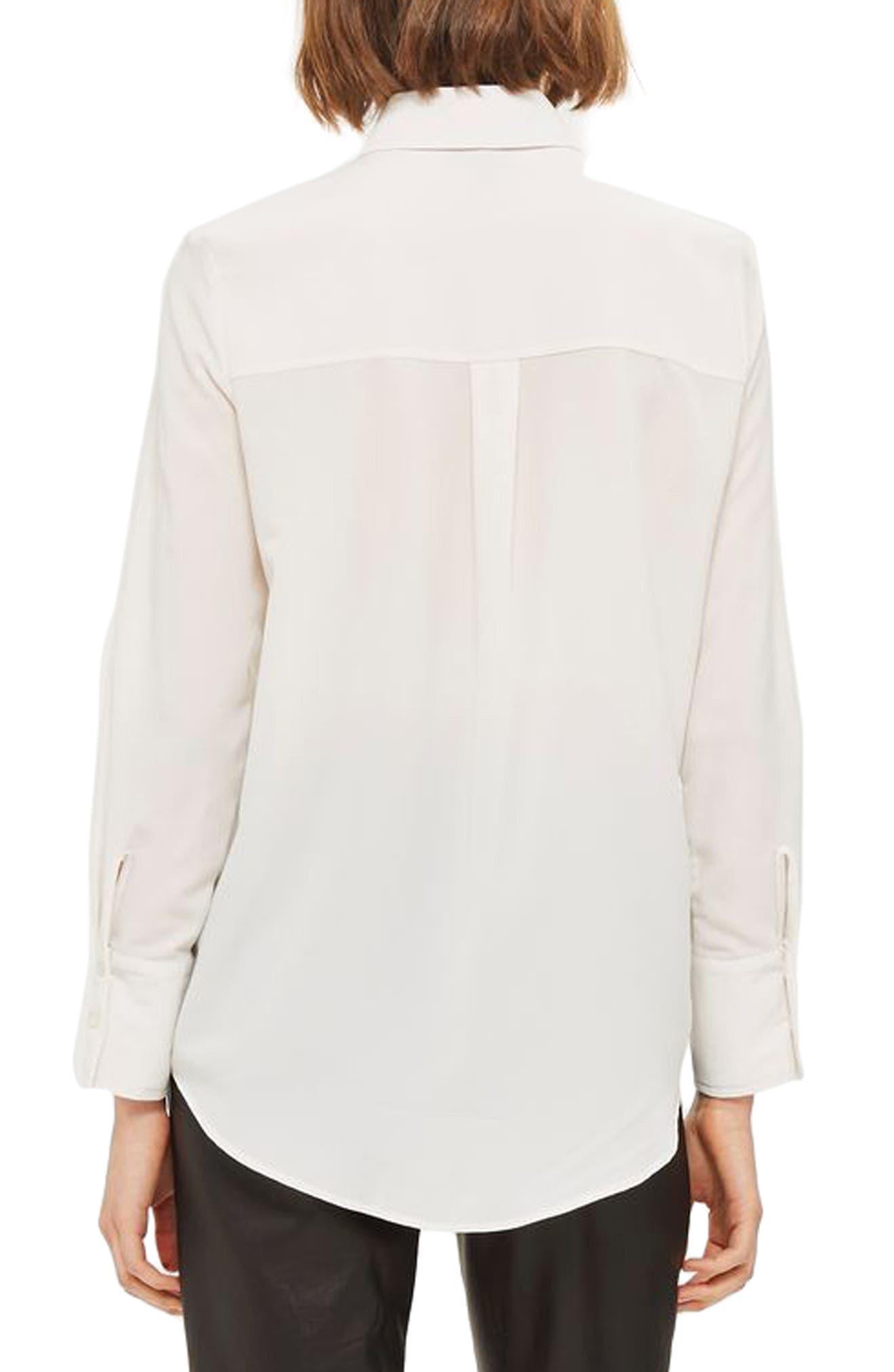Alternate Image 2  - Topshop '70s Collar Shirt