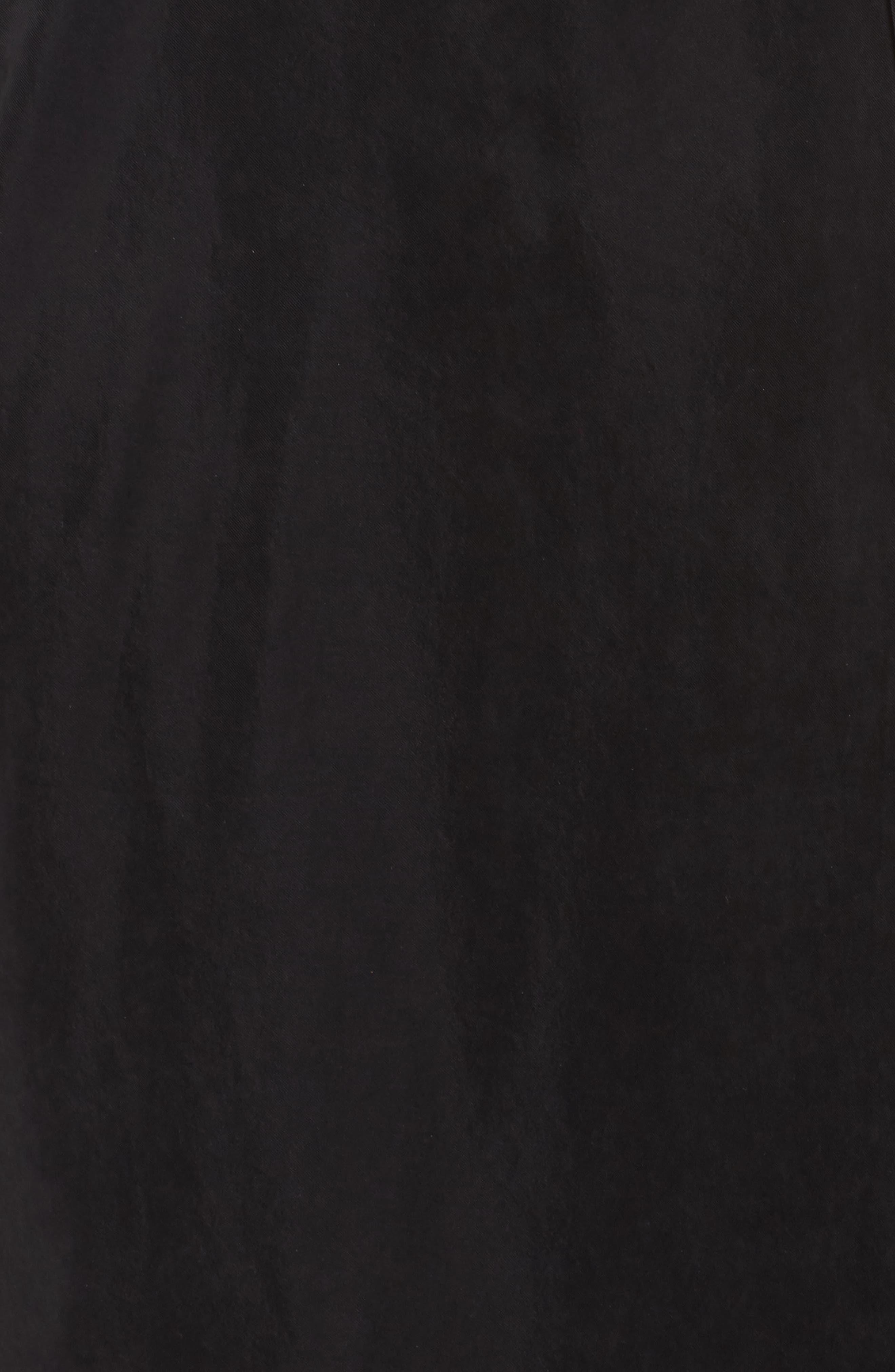 Milly One-Shoulder Wrap Dress,                             Alternate thumbnail 5, color,                             Black