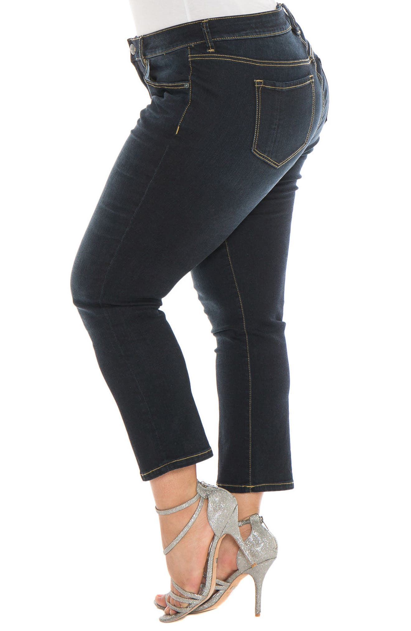 Alternate Image 4  - SLINK Jeans Straight Leg Jeans (Summer) (Plus Size)