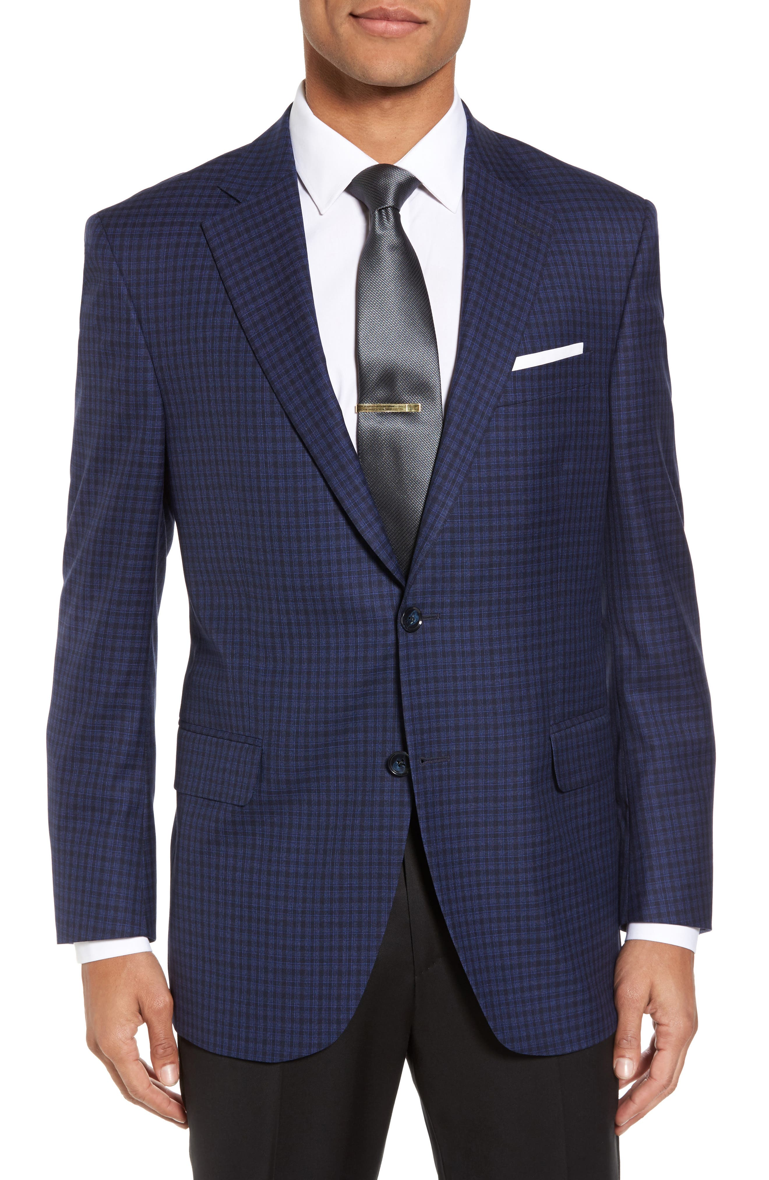 Main Image - Peter Millar Classic Fit Check Wool Sport Coat