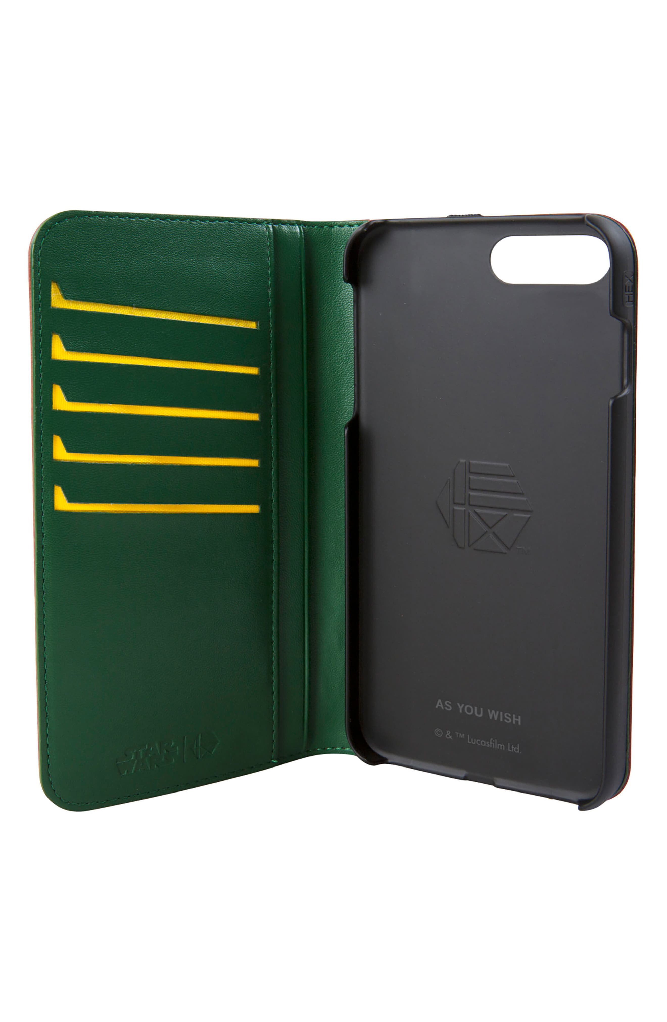 Alternate Image 2  - HEX Boba Fett iPhone 8 Plus Wallet Case