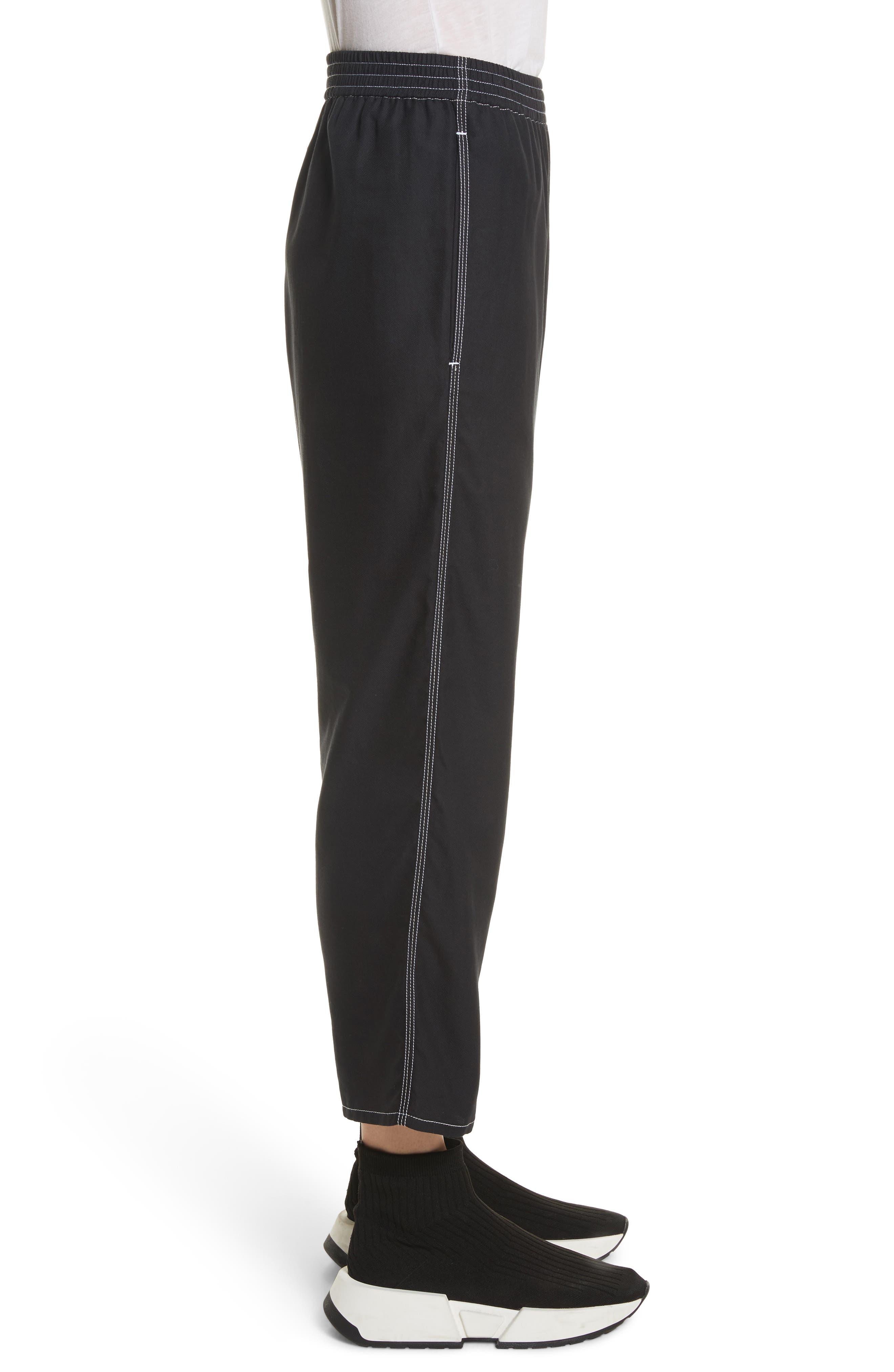 Crop Pants,                             Alternate thumbnail 4, color,                             Black