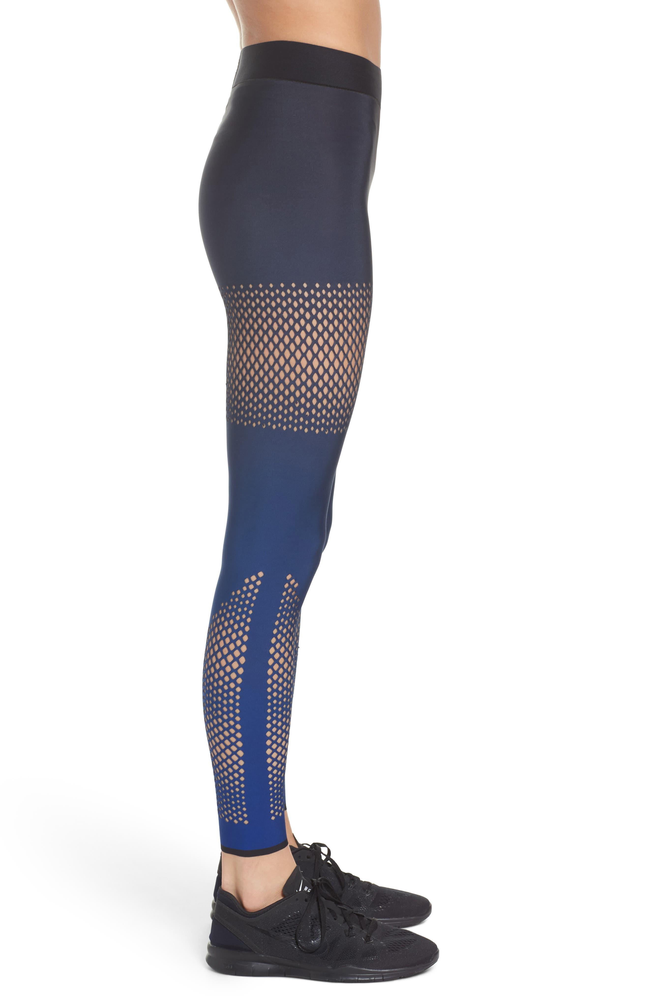 Ultra Ultramesh Silk Leggings,                             Alternate thumbnail 3, color,                             Gradient Navy