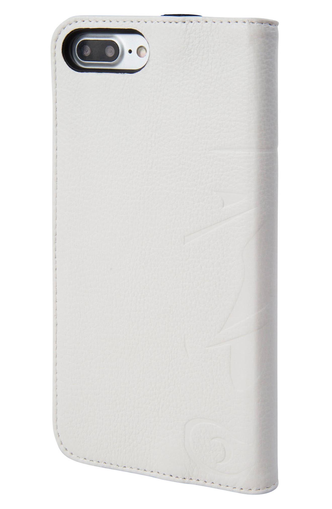 Stormtrooper iPhone 8 Plus Wallet Case,                             Alternate thumbnail 3, color,                             White