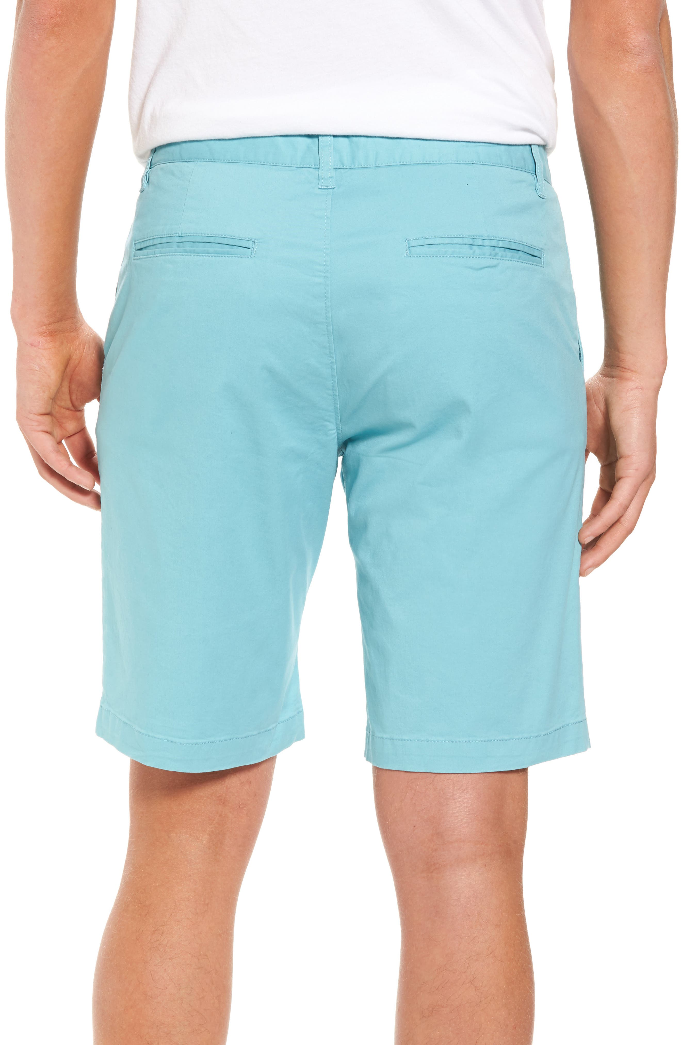 Slim Fit Brushed Twill Shorts,                             Alternate thumbnail 2, color,                             Dusty Blue