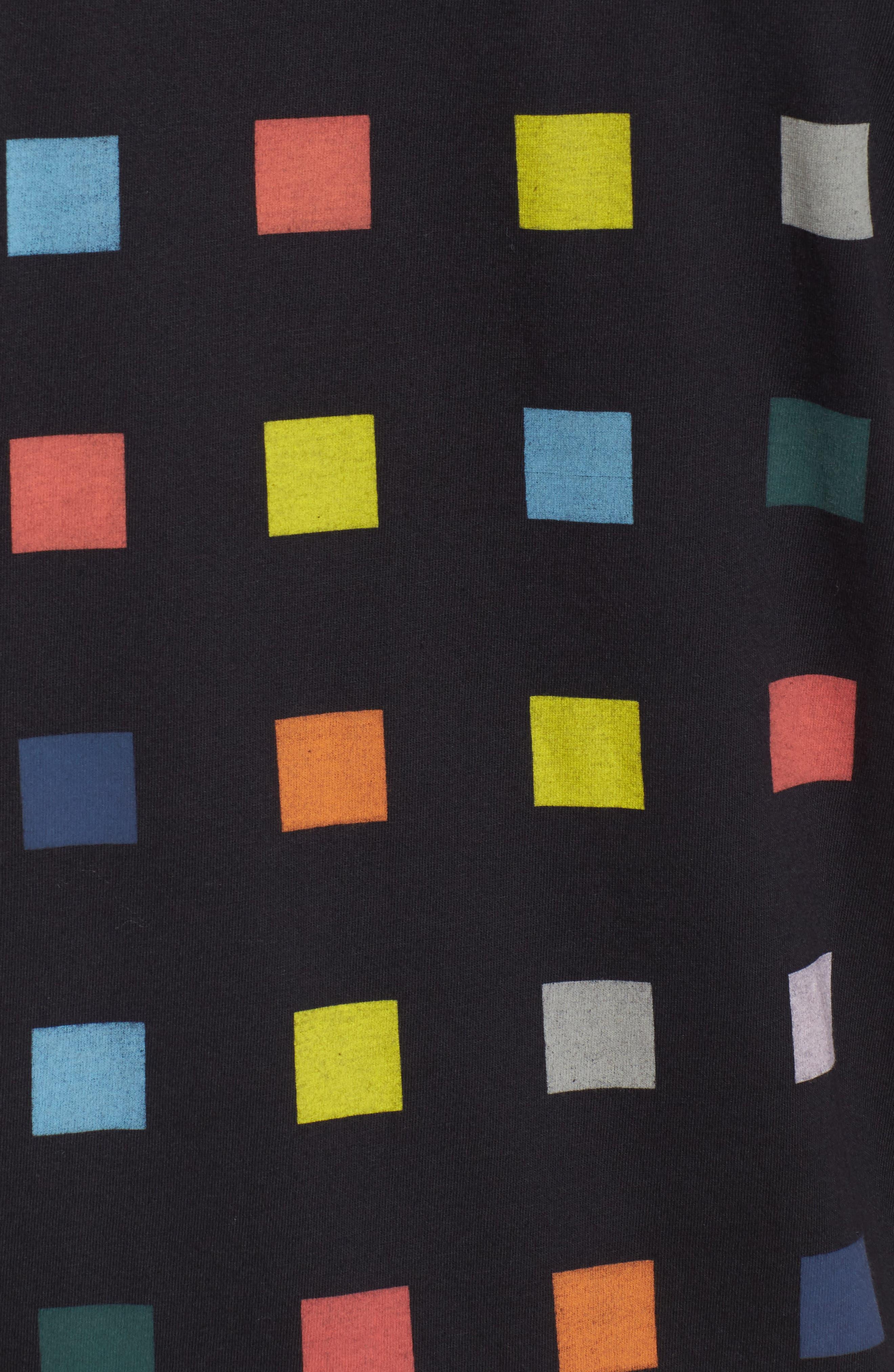Squares T-Shirt,                             Alternate thumbnail 5, color,                             Black