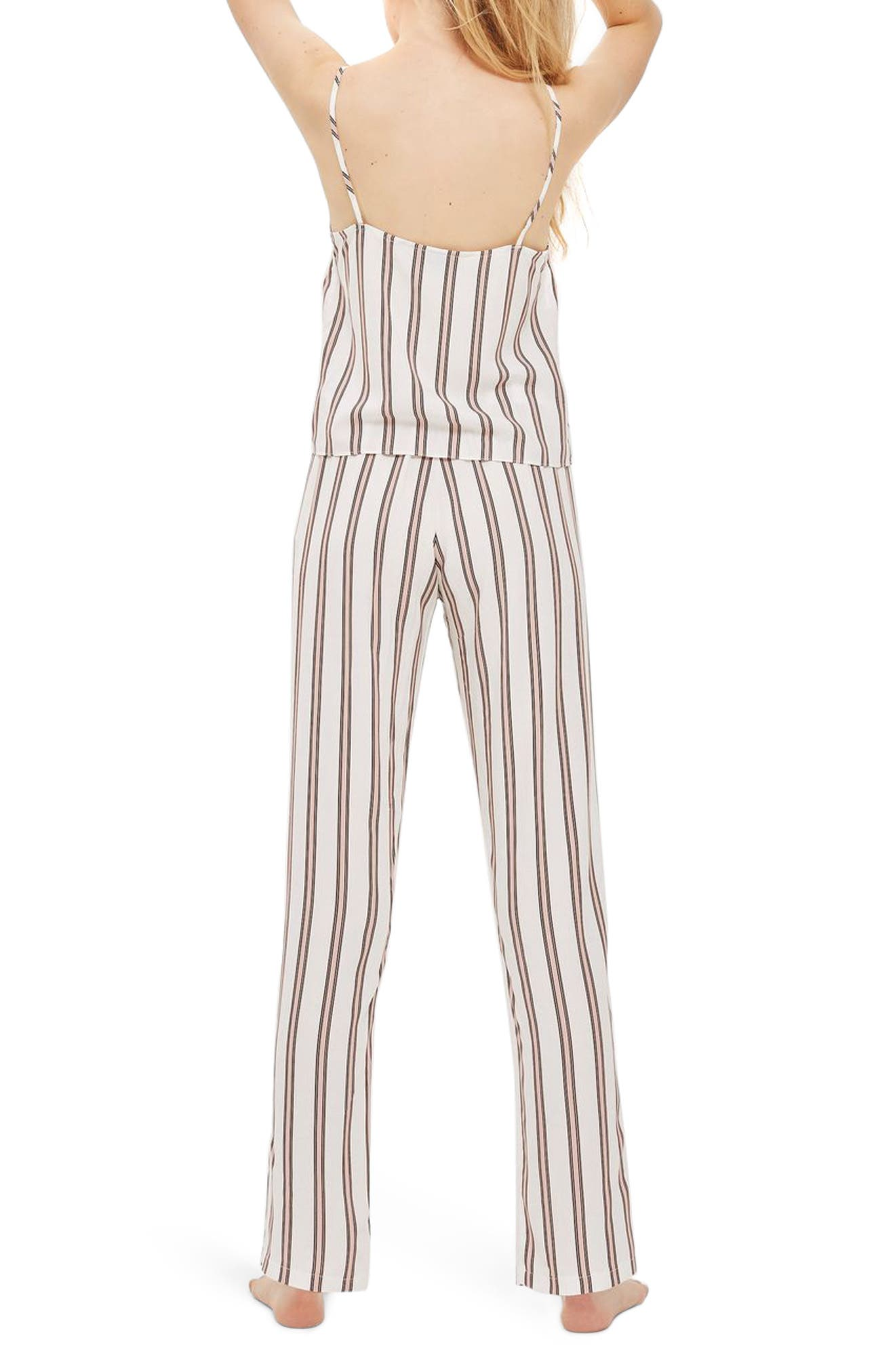 Alternate Image 2  - Topshop Spaced Stripe Pajamas