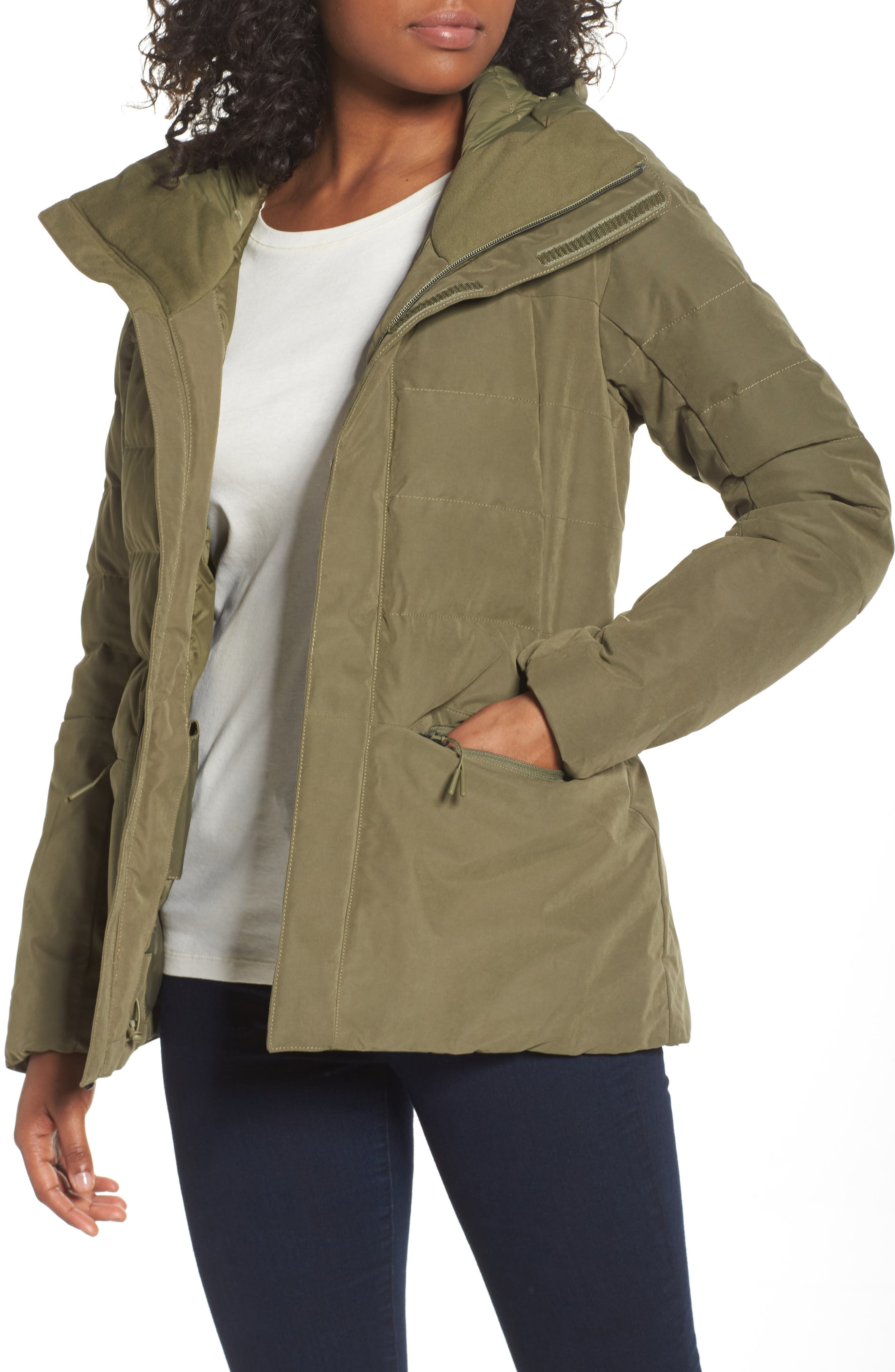 Heavenly Down Jacket,                             Main thumbnail 1, color,                             Burnt Olive Green