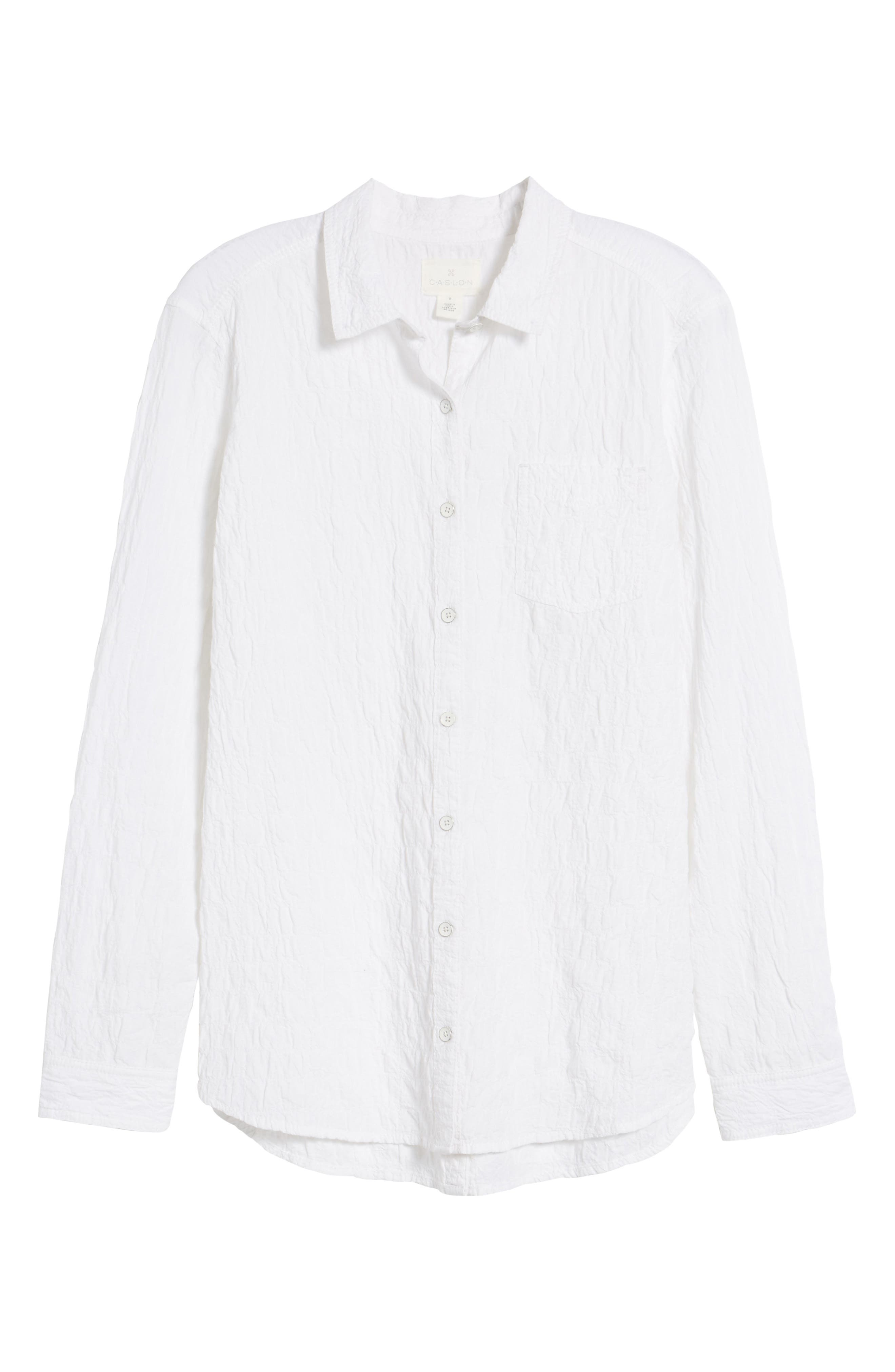Button Up Shirt,                             Alternate thumbnail 6, color,                             White