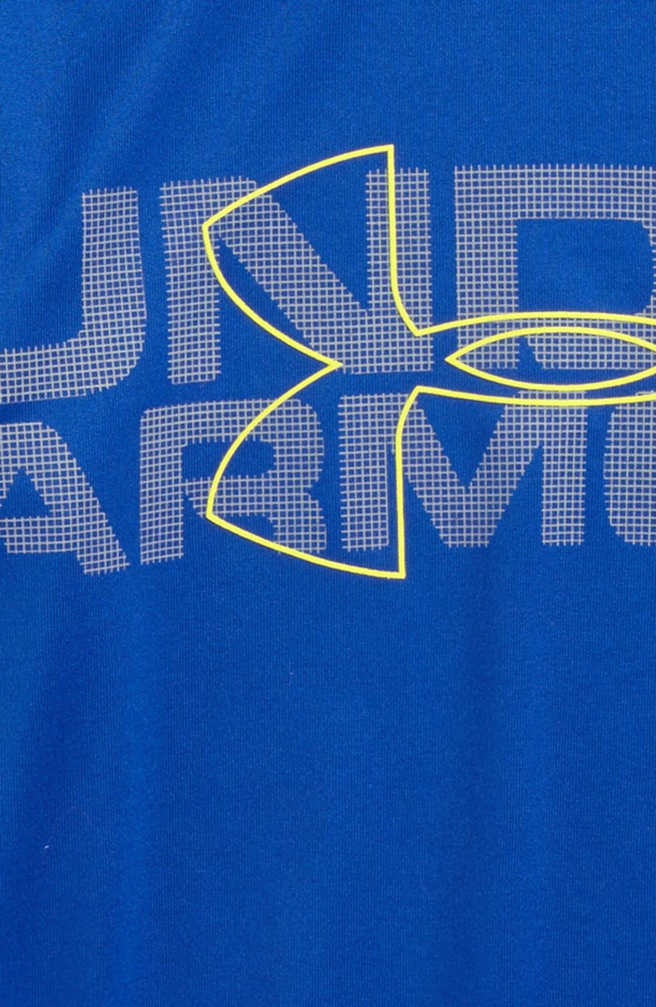 Alternate Image 2  - Under Armour Wordmark Slider Layered T-Shirt (Toddler Boys & Little Boys)