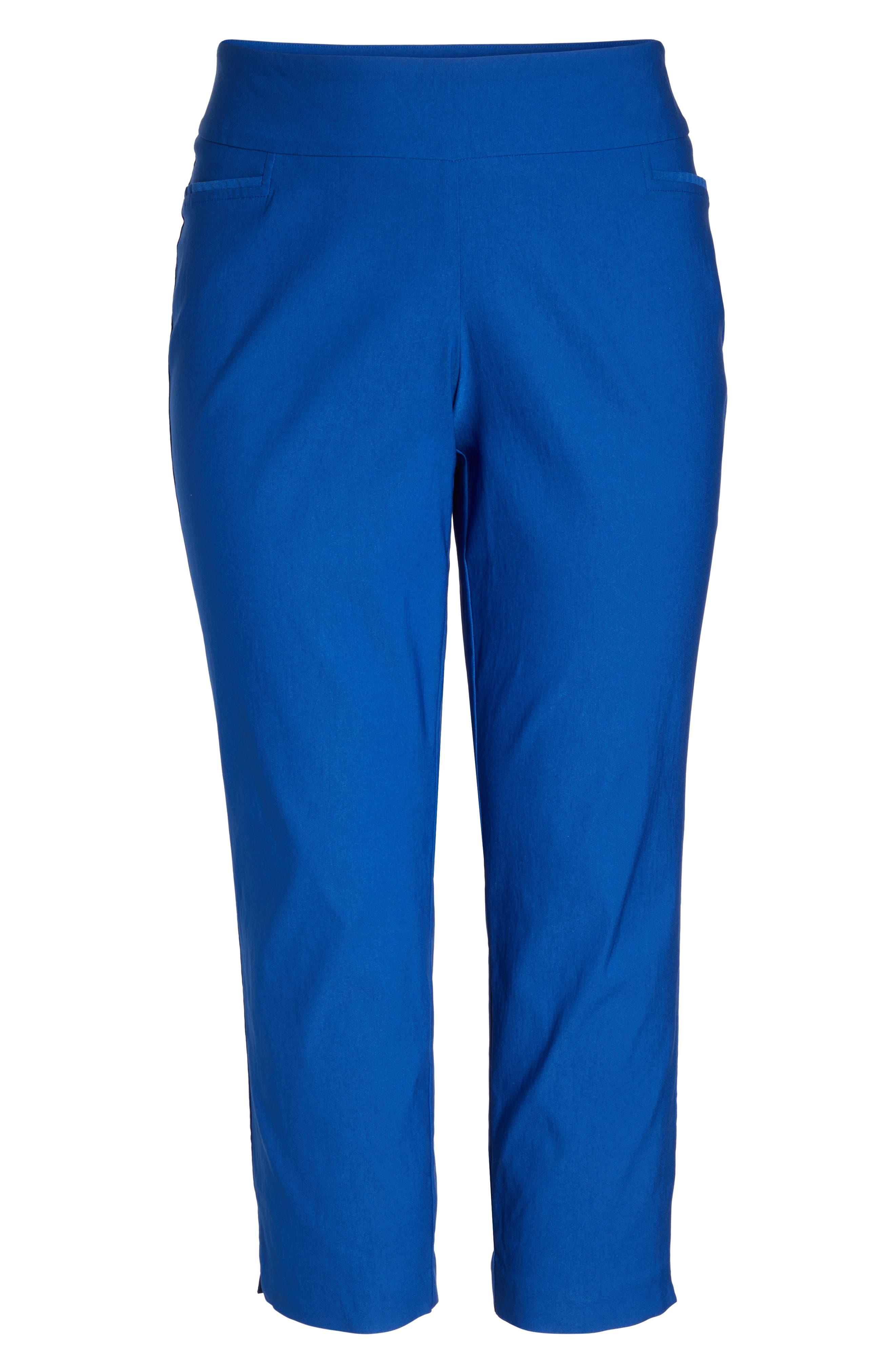 Stretch Ankle Pants,                             Alternate thumbnail 6, color,                             Blue Mazarine