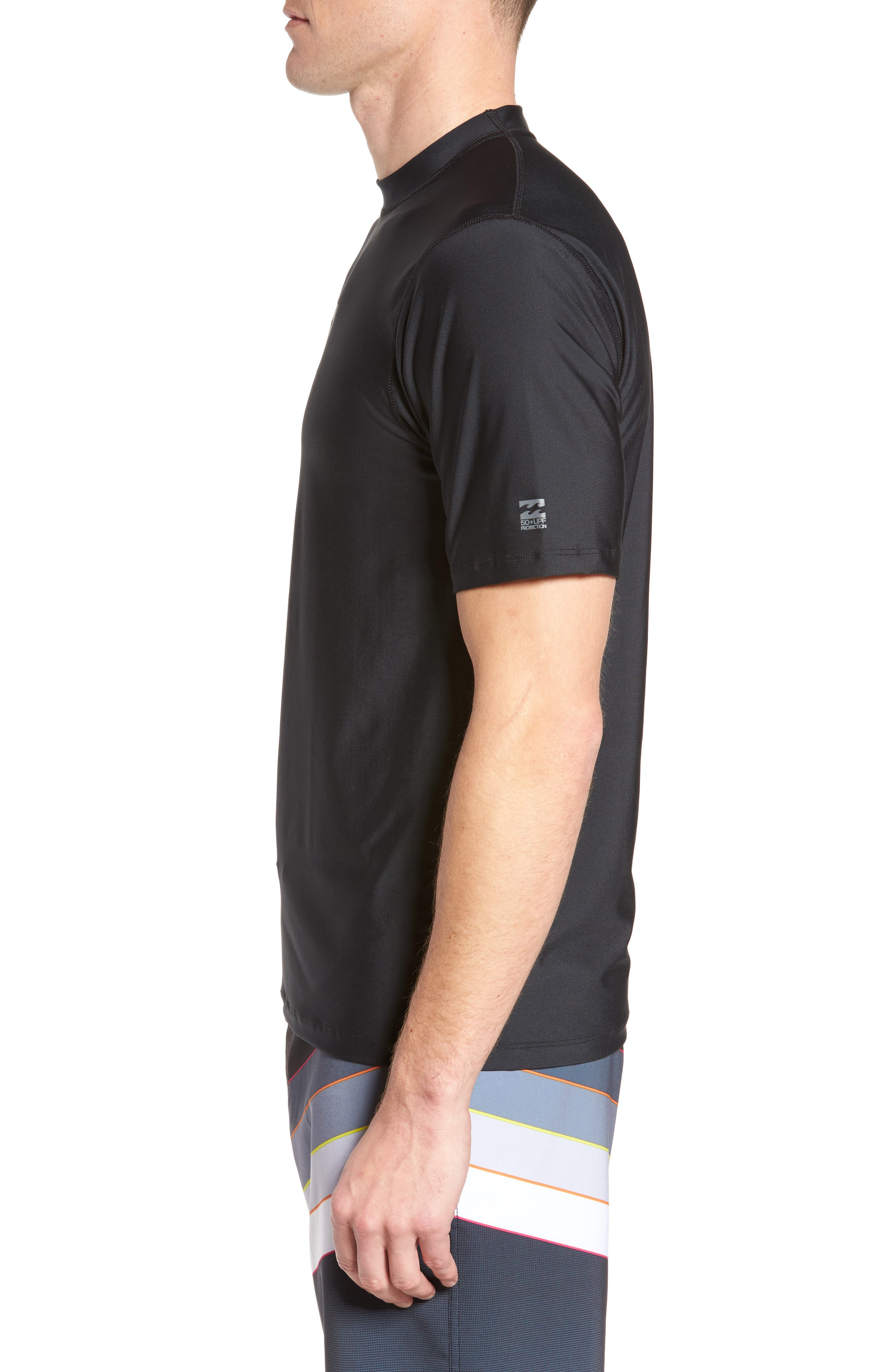 All Day Wave Wet Shirt,                             Alternate thumbnail 3, color,                             Black