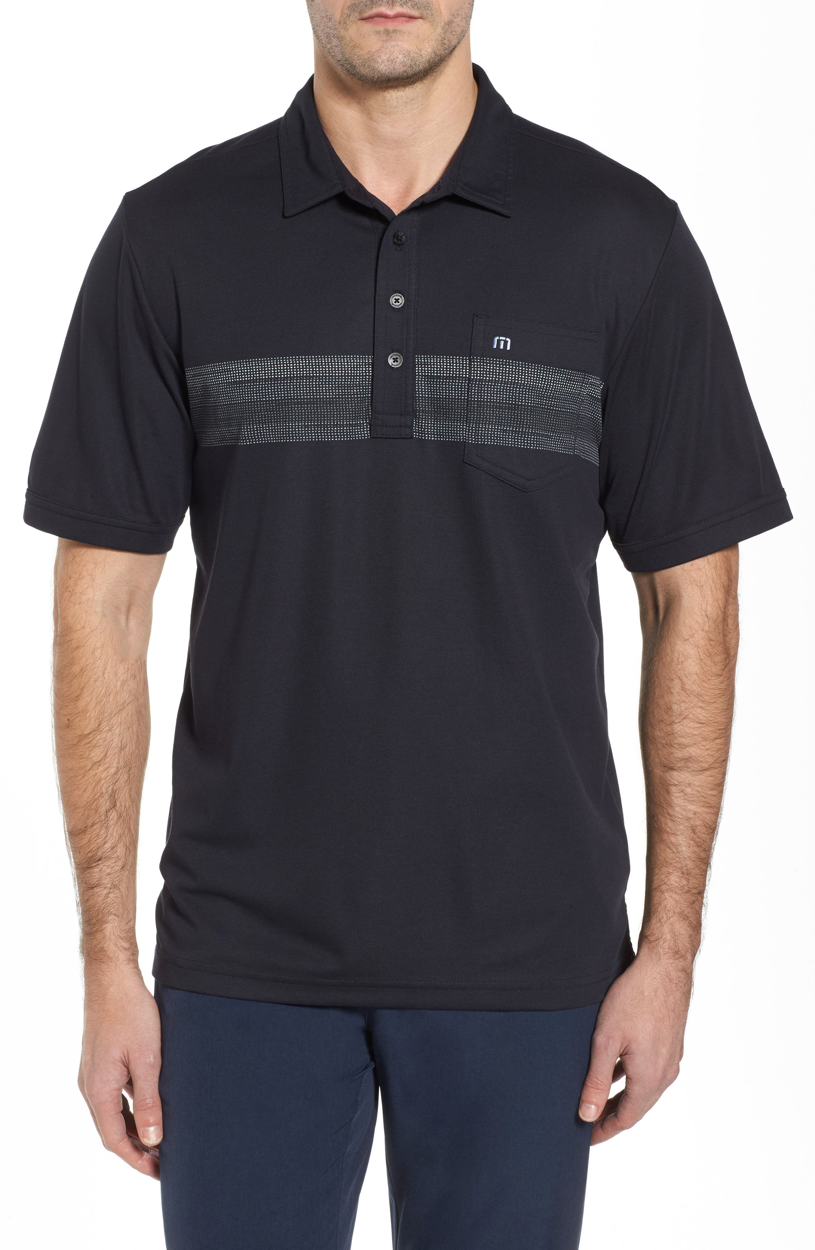 Frisch Chest Stripe Polo,                         Main,                         color, Black