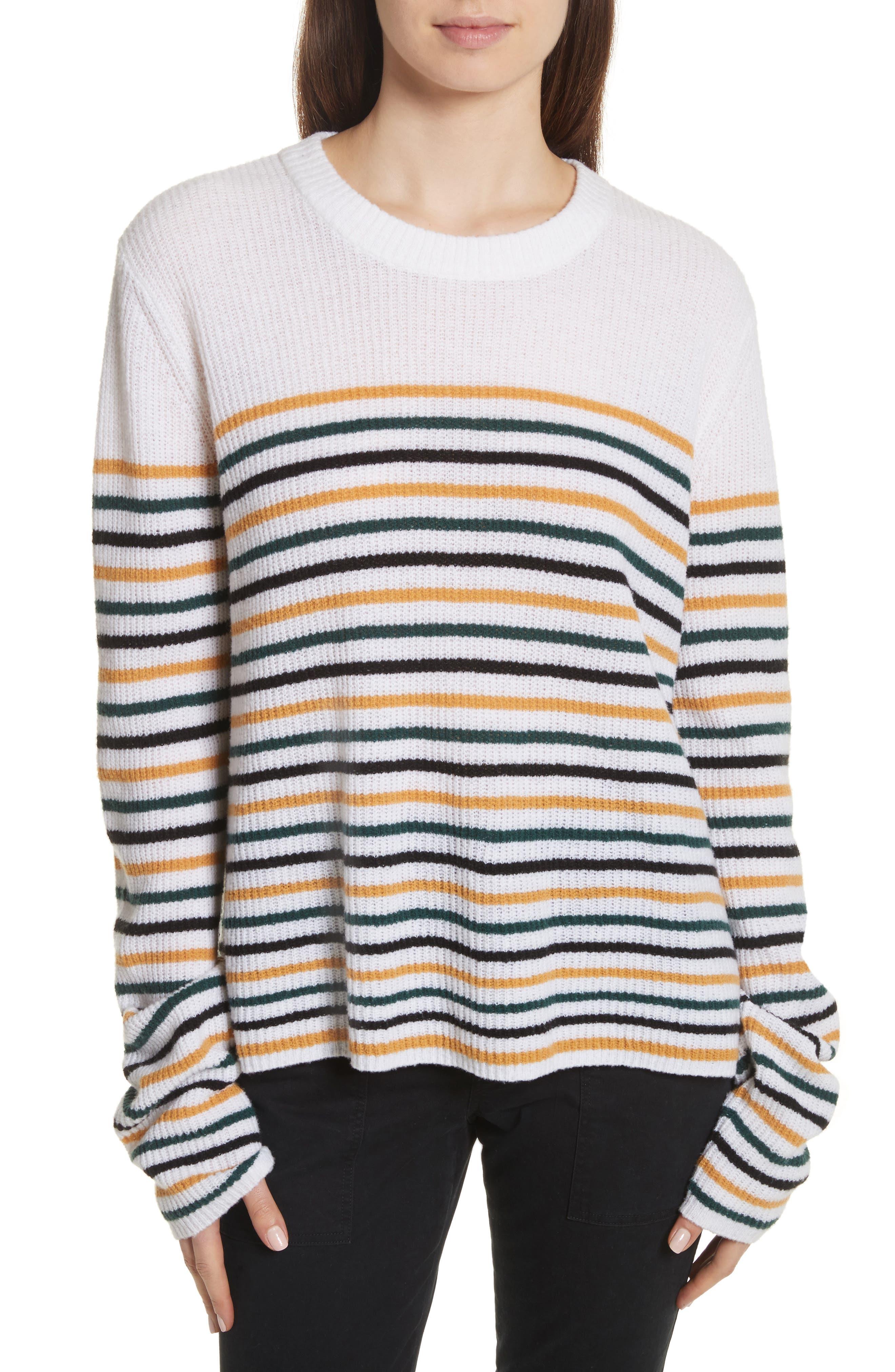 Alternate Image 1 Selected - A.L.C. Meryl Stripe Sweater