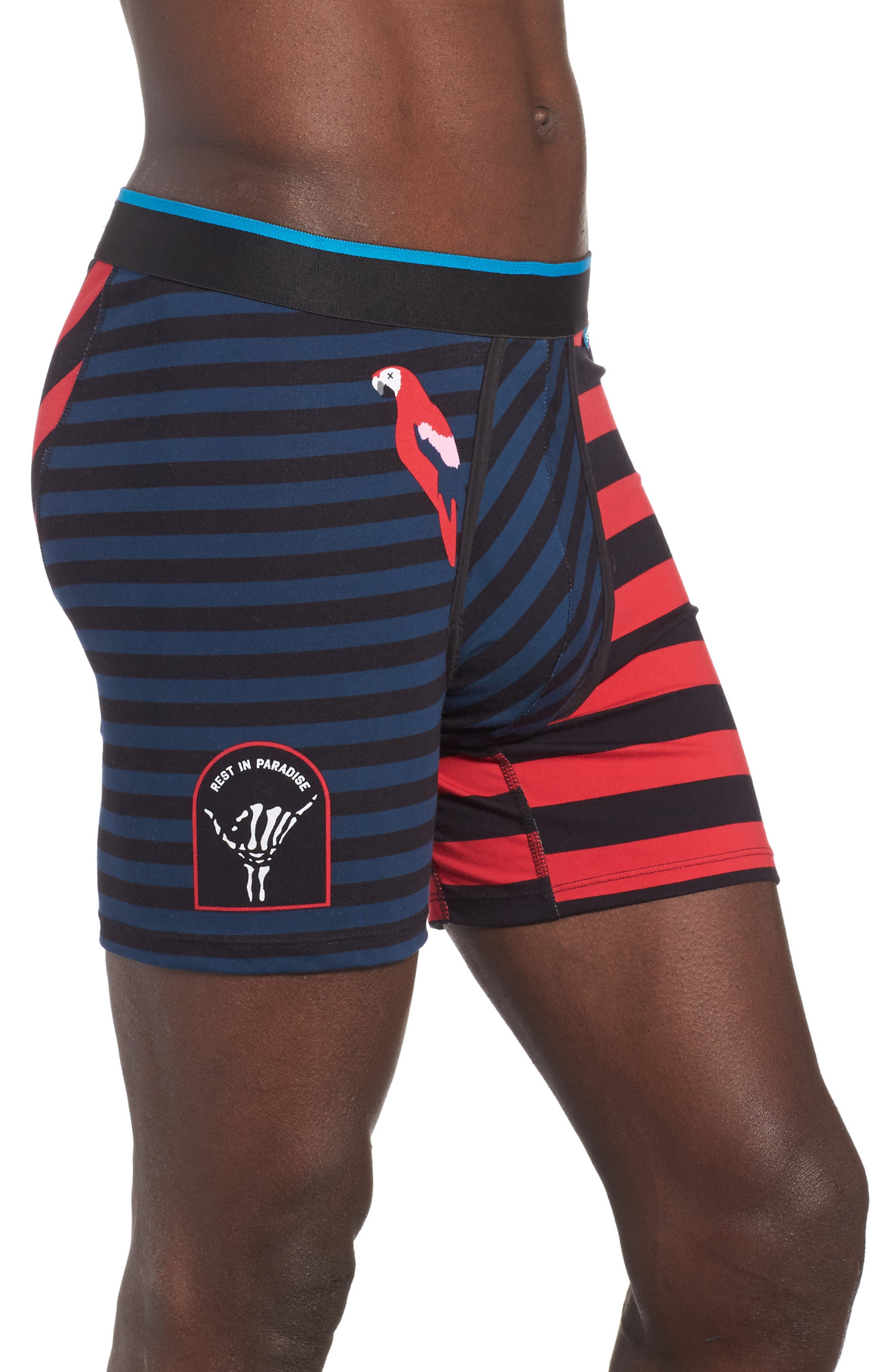 Travel Vibes Boxer Briefs,                             Alternate thumbnail 3, color,                             Medium Blue