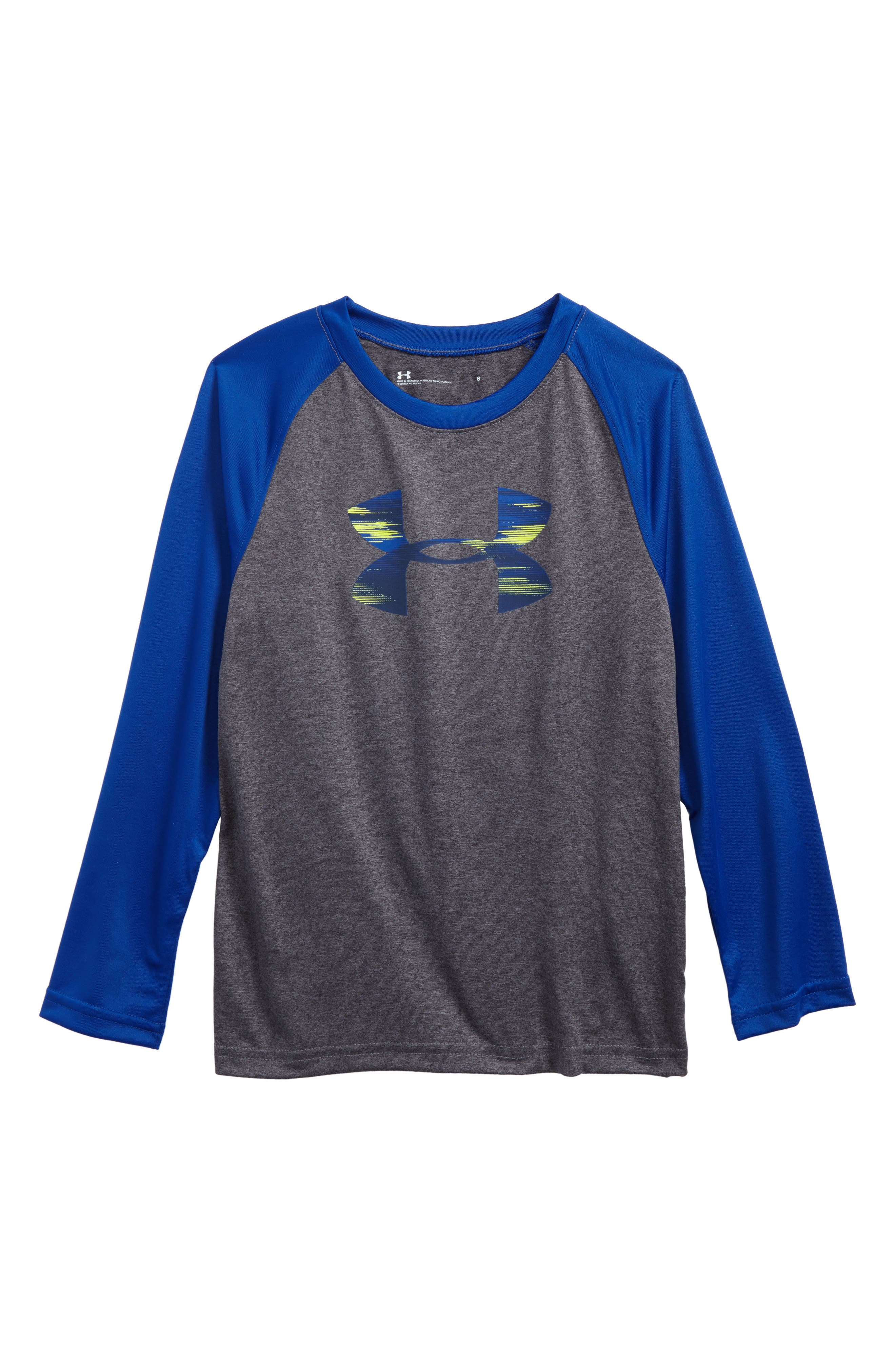 Main Image - Under Armour Accelerate Big Logo T-Shirt (Toddler Boys & Little Boys)