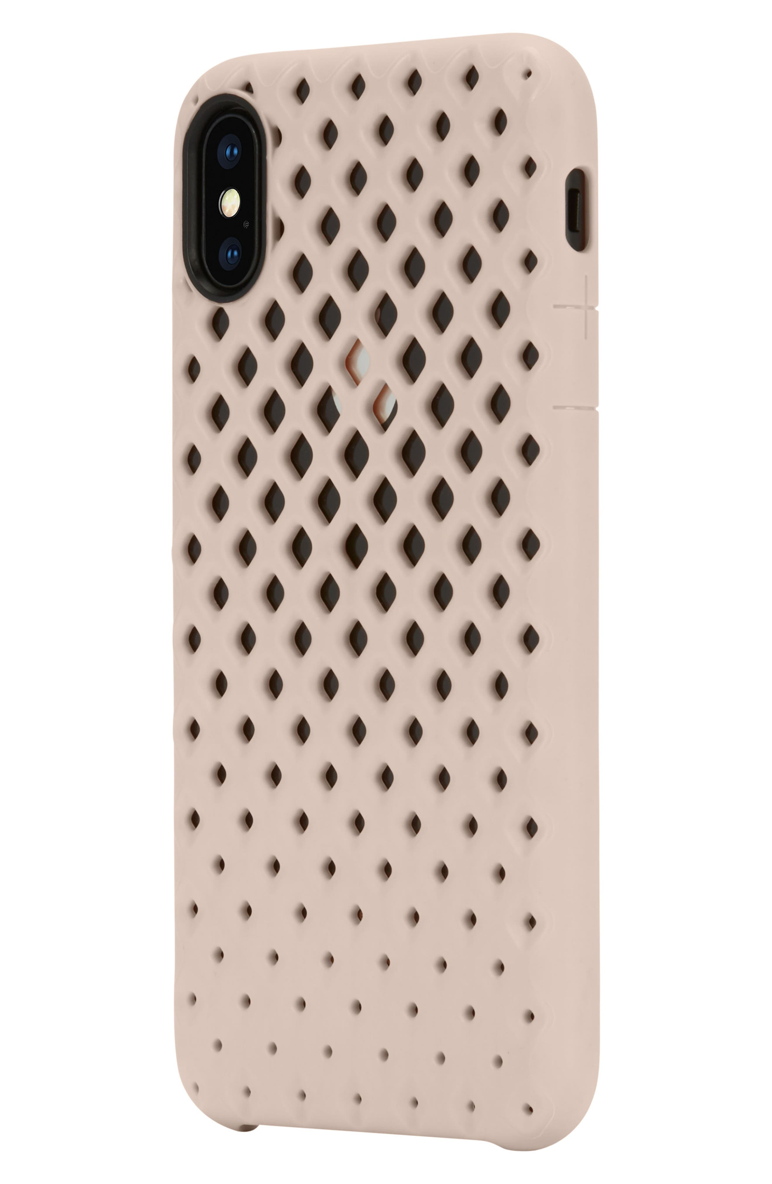 Lite iPhone iPhone X Case,                             Alternate thumbnail 3, color,                             Rose Gold