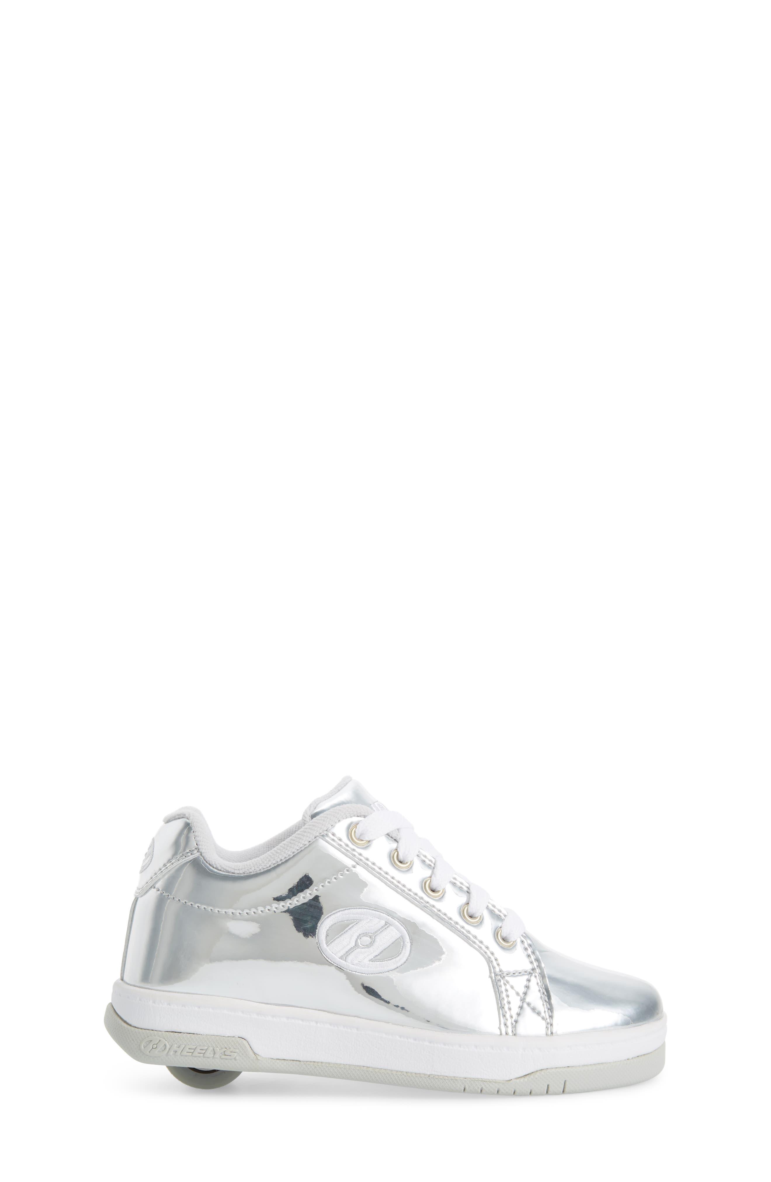 Split Skate Sneaker,                             Alternate thumbnail 3, color,                             Silver