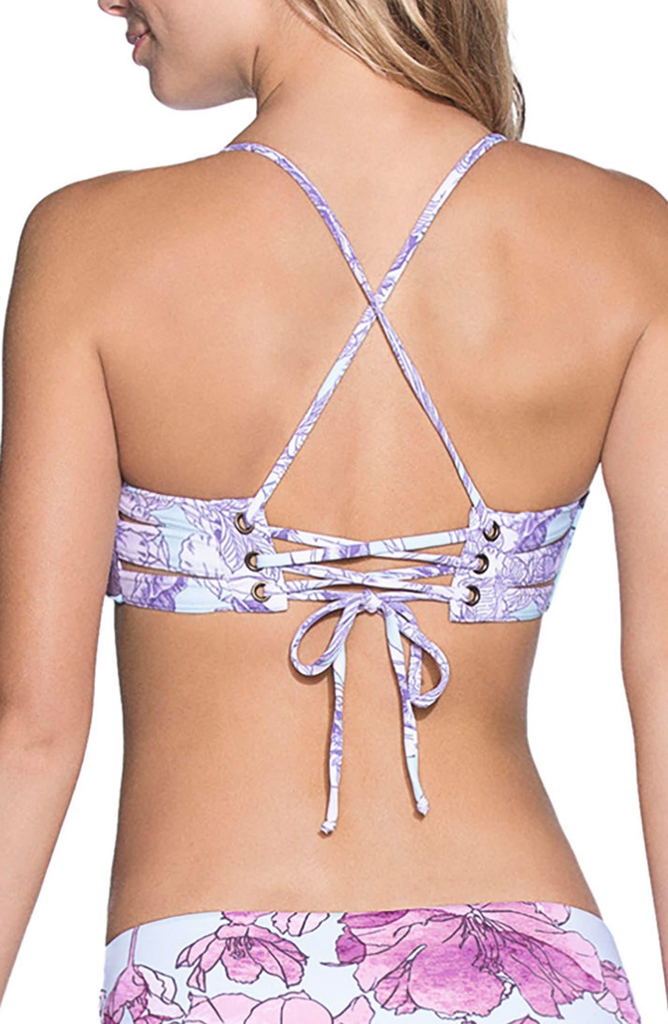 South Pacific Bikini Top,                             Alternate thumbnail 2, color,                             Purple Multi