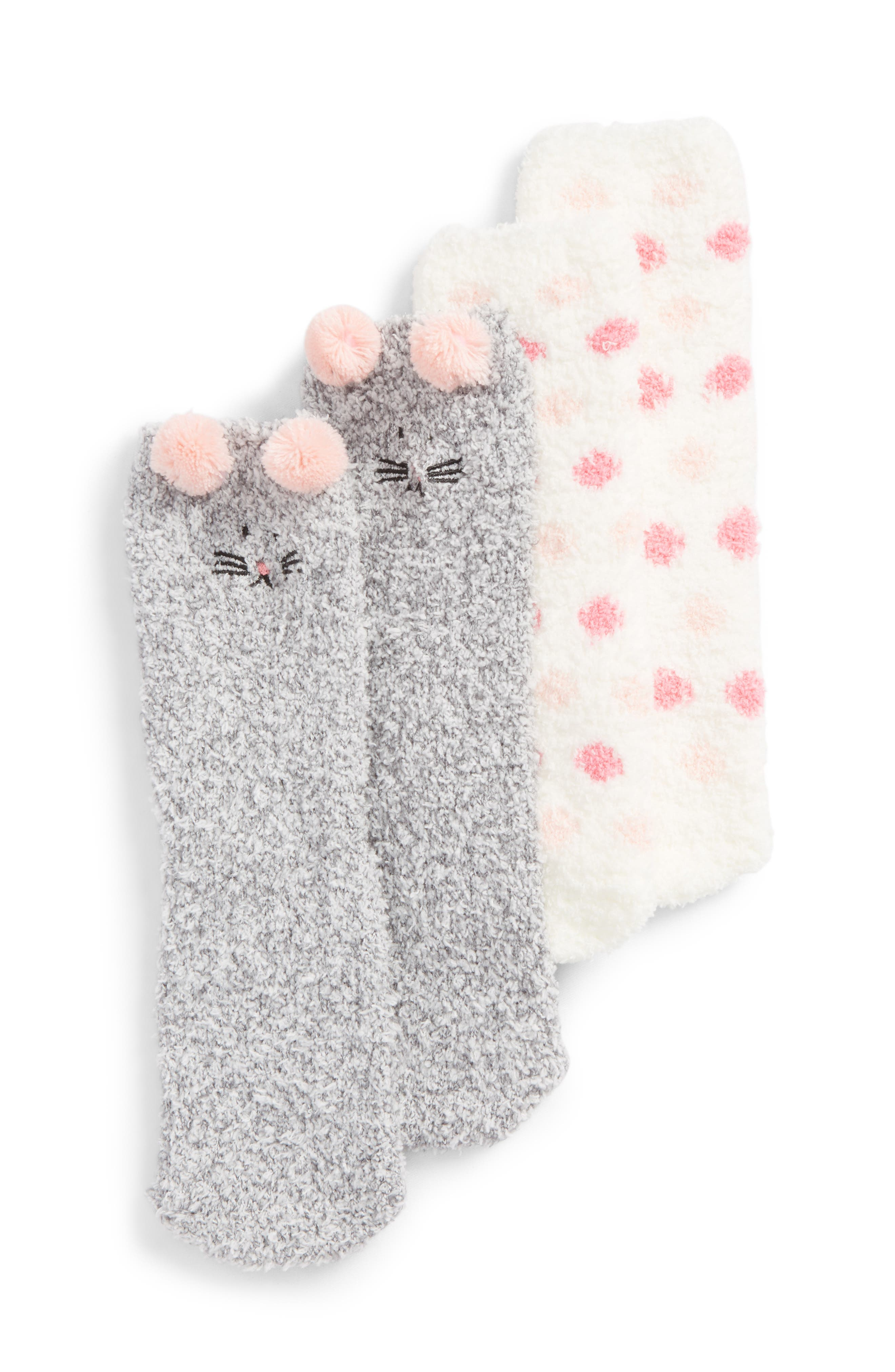 Tucker + Tate Assorted 2-Pack Plush Critter Socks (Toddler, Little Kid & Big Kid)